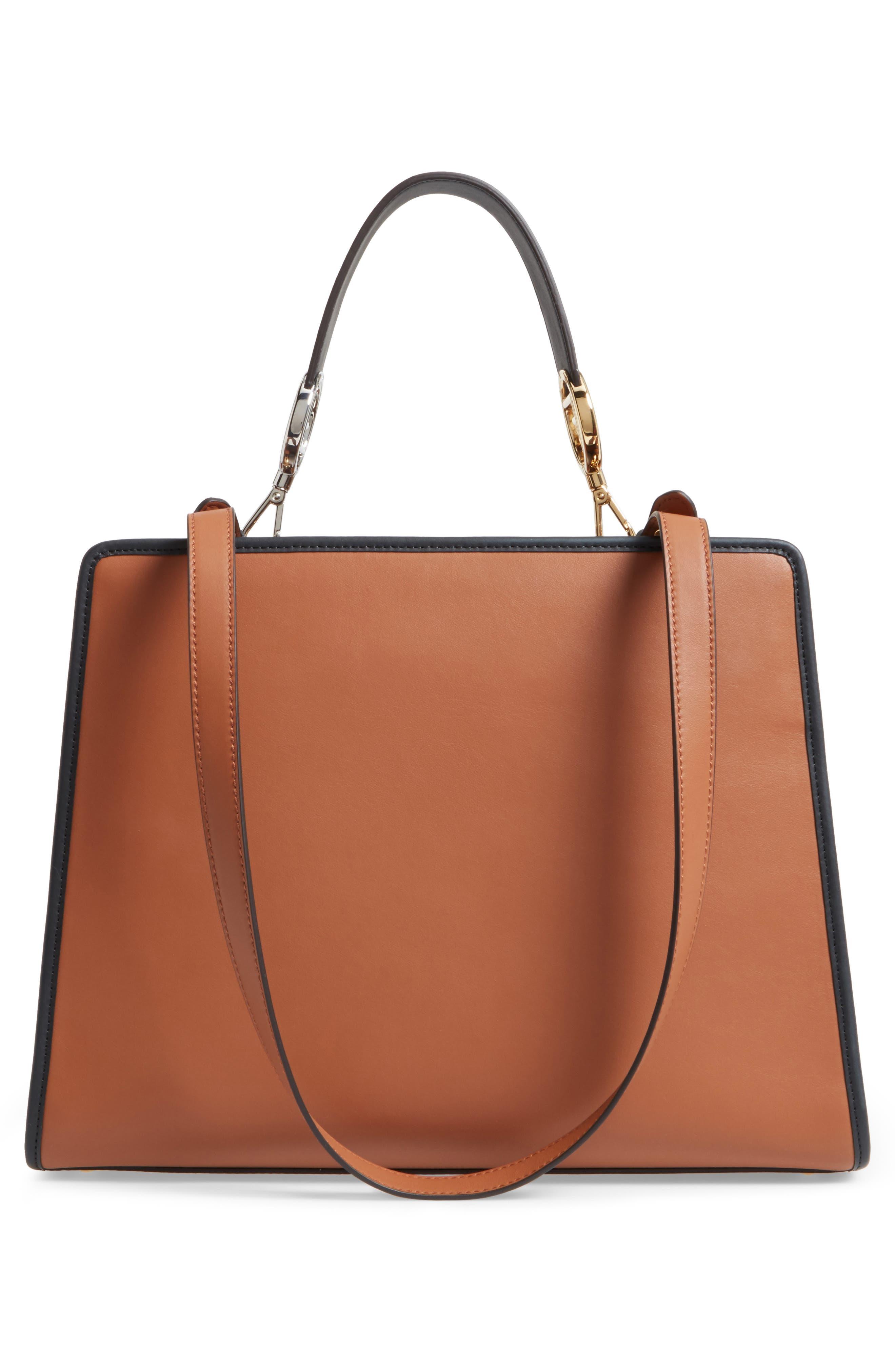 Runaway Medium Leather Tote Bag,                             Alternate thumbnail 6, color,