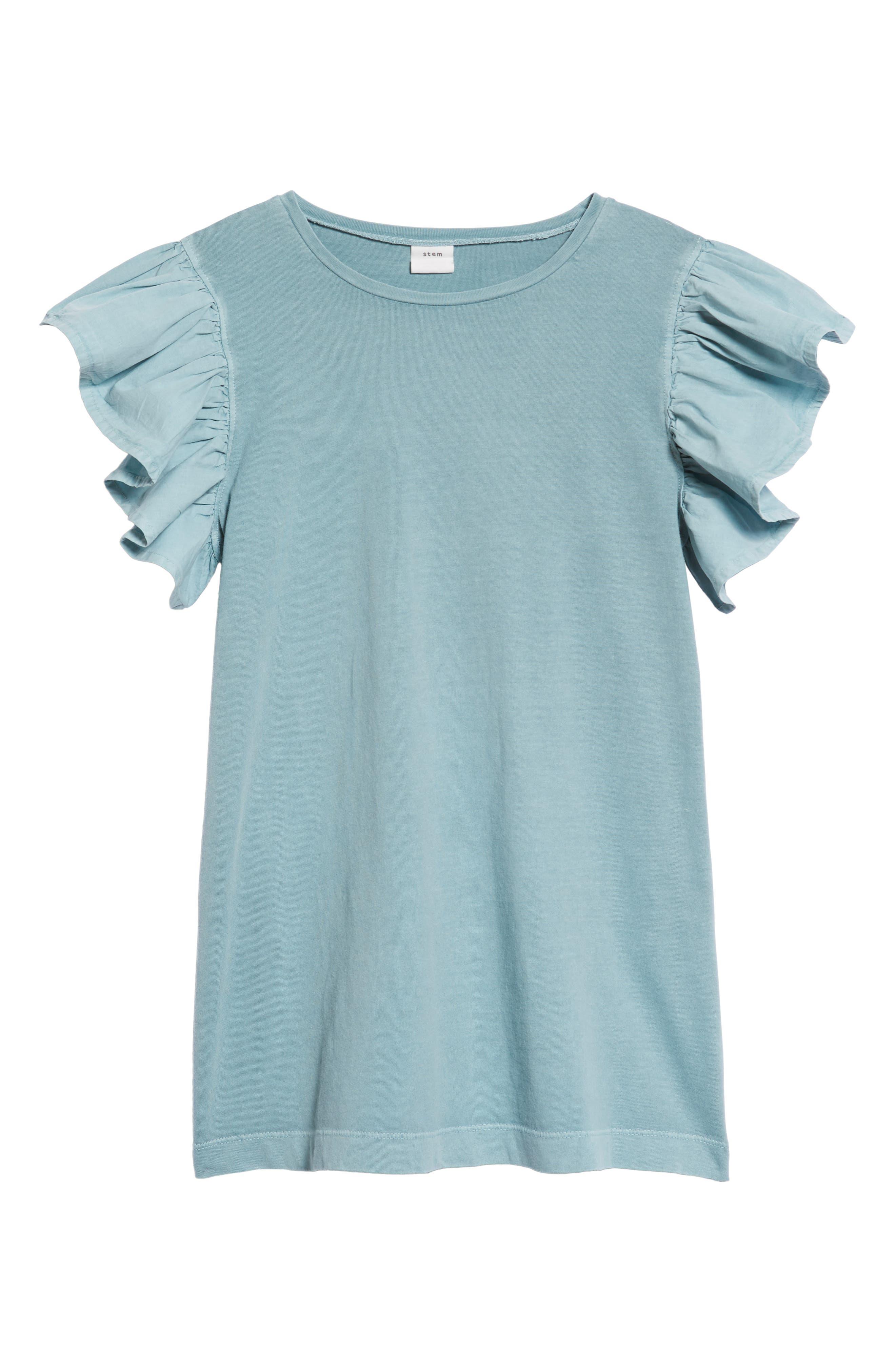 Ruffle Sleeve Dress,                             Main thumbnail 1, color,                             450