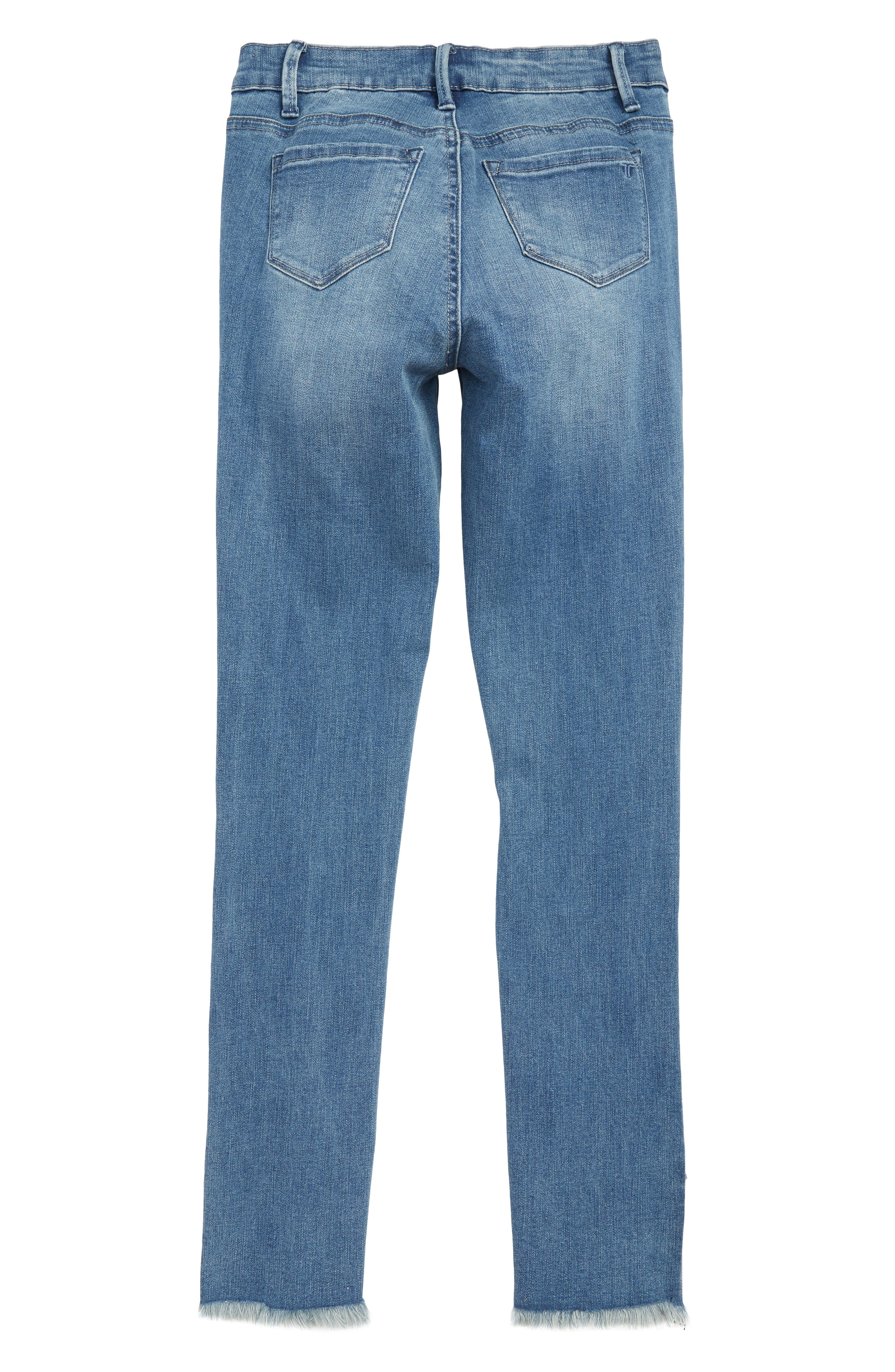 TRACTR,                             Deconstructed Eyelet Hem Skinny Jeans,                             Alternate thumbnail 2, color,                             407