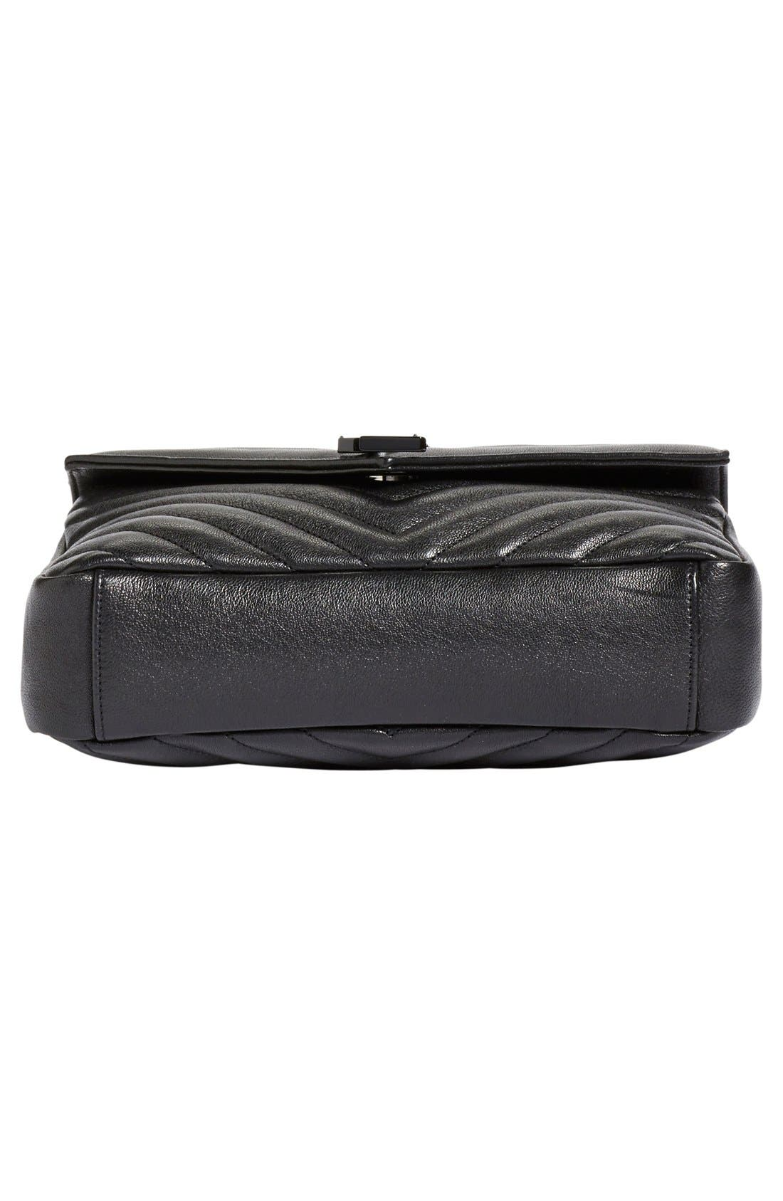 'Medium College' Quilted Leather Shoulder Bag,                             Alternate thumbnail 5, color,                             001