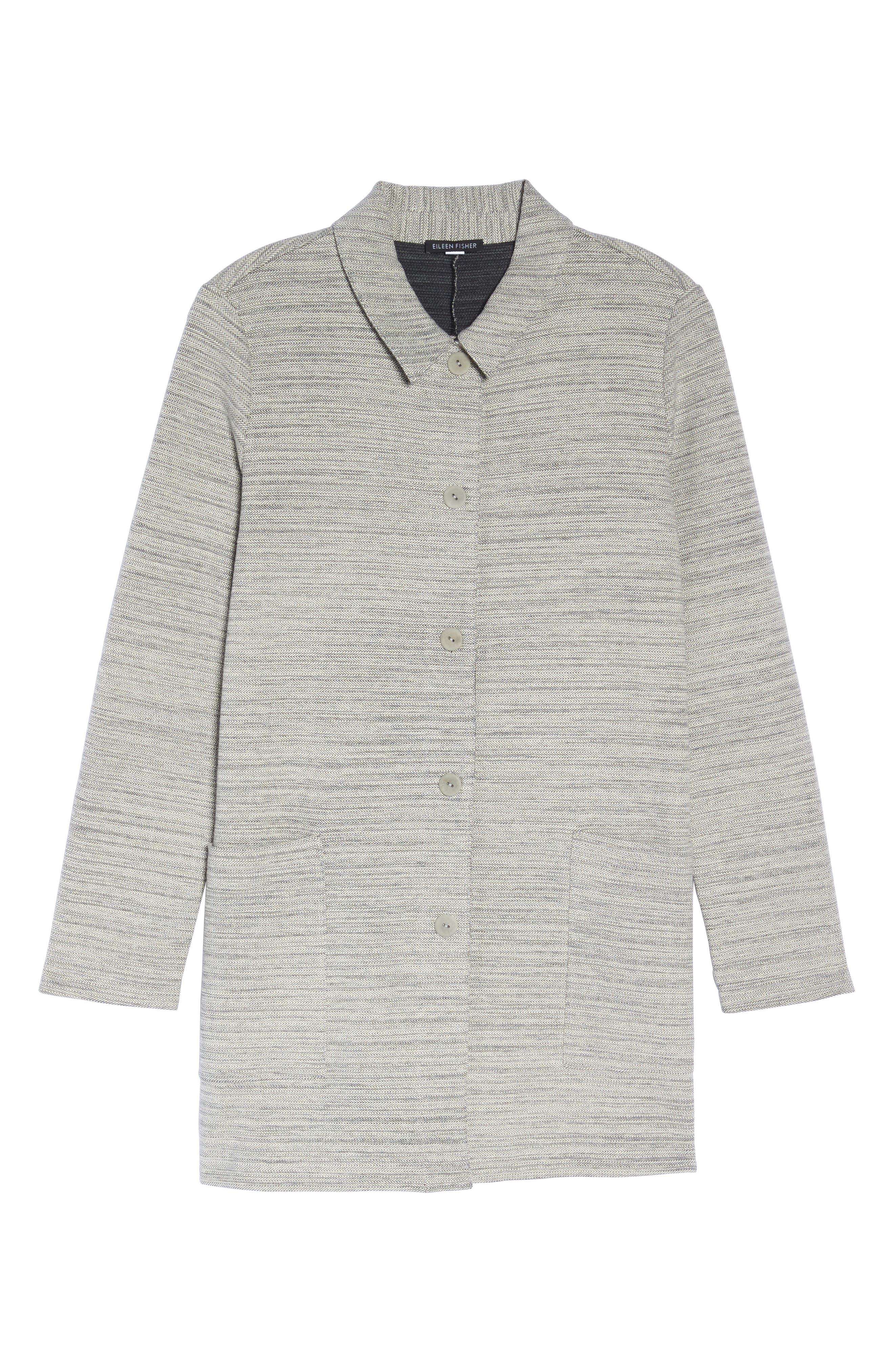 Cotton Blend Tweed Jacket,                             Alternate thumbnail 5, color,                             022