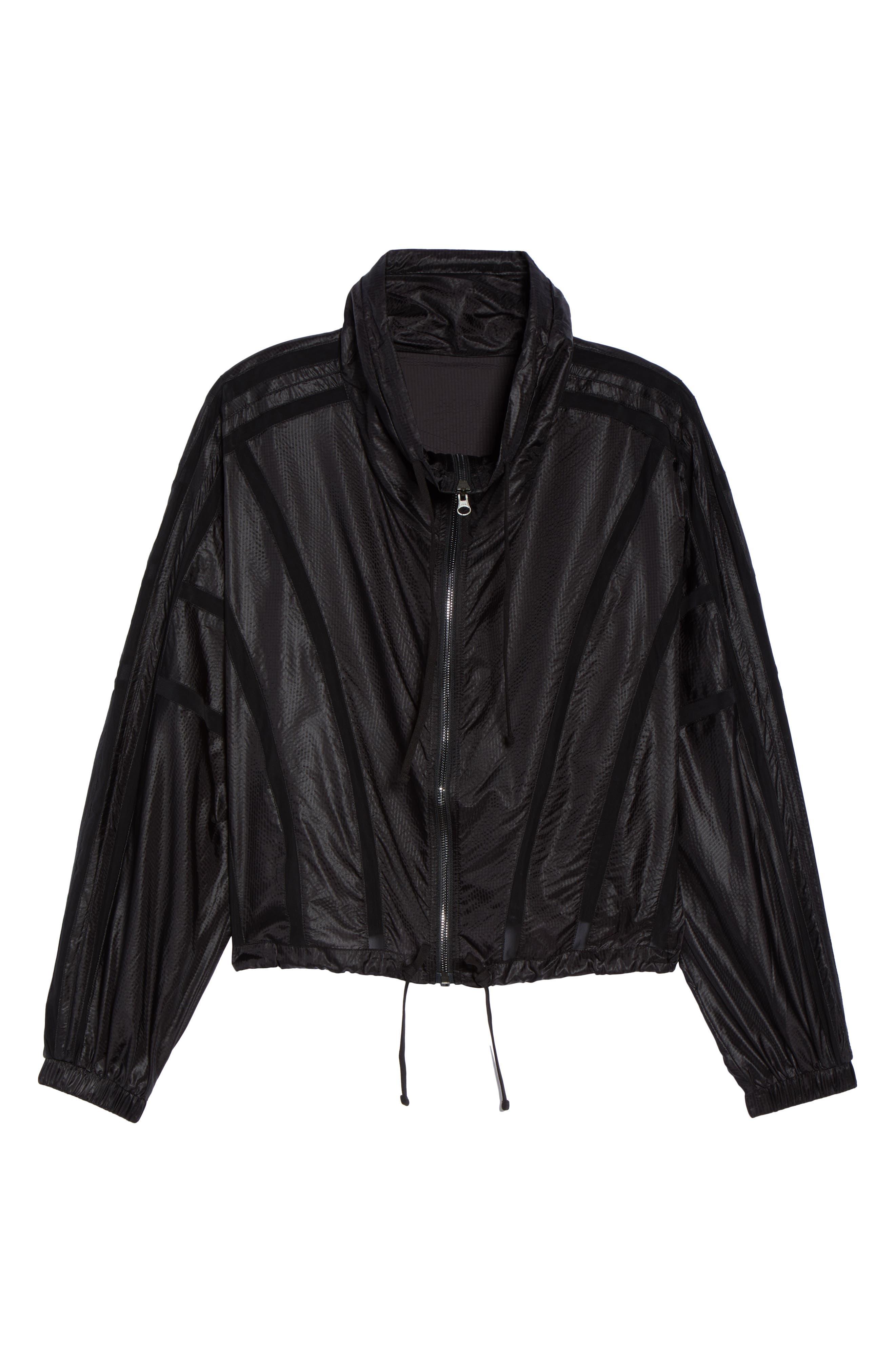 Stitch Jacket,                             Alternate thumbnail 6, color,                             BLACK