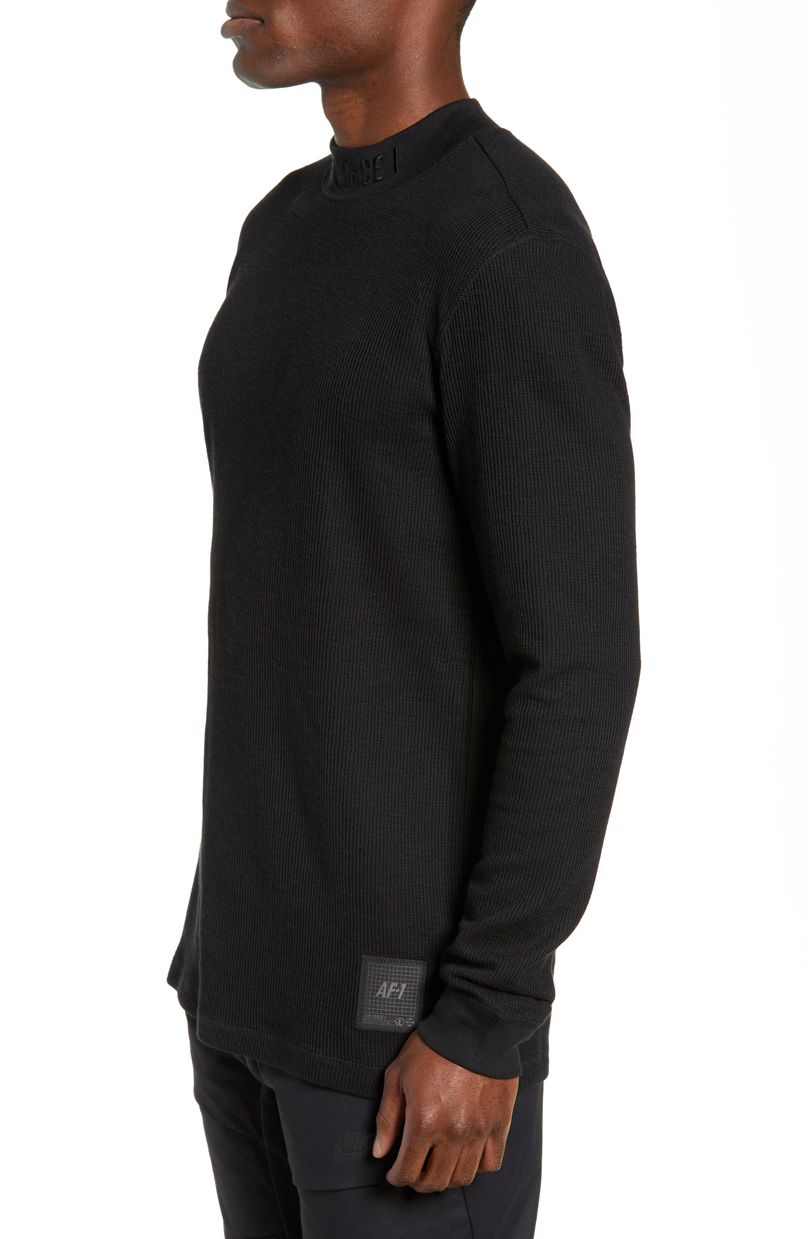 Sportswear Air Force 1 Long Sleeve Top,                             Alternate thumbnail 3, color,                             BLACK