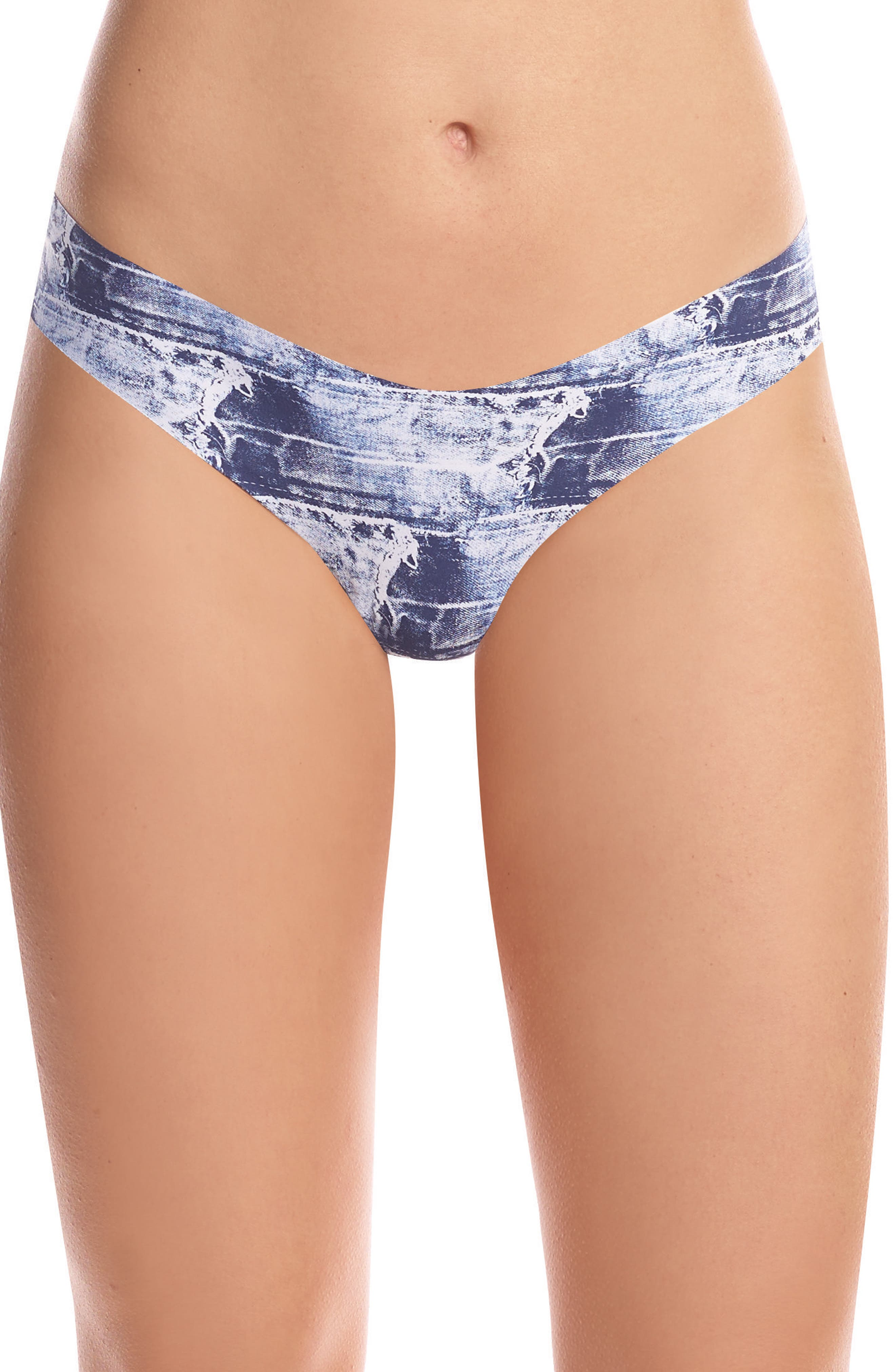 Print Microfiber Thong,                             Main thumbnail 14, color,