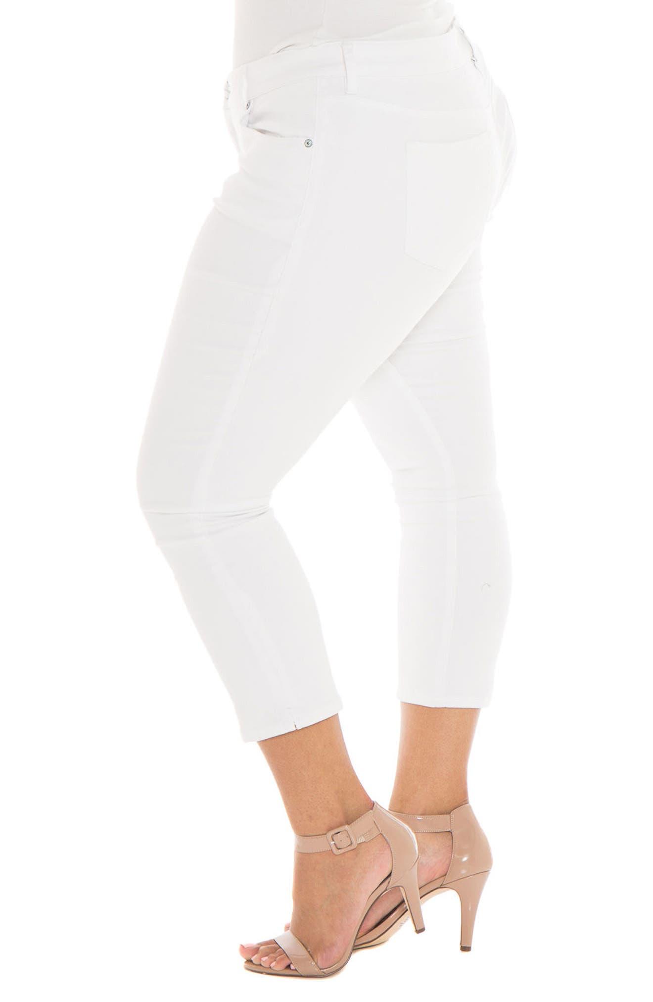 Crop Skinny Jeans,                             Alternate thumbnail 3, color,                             114