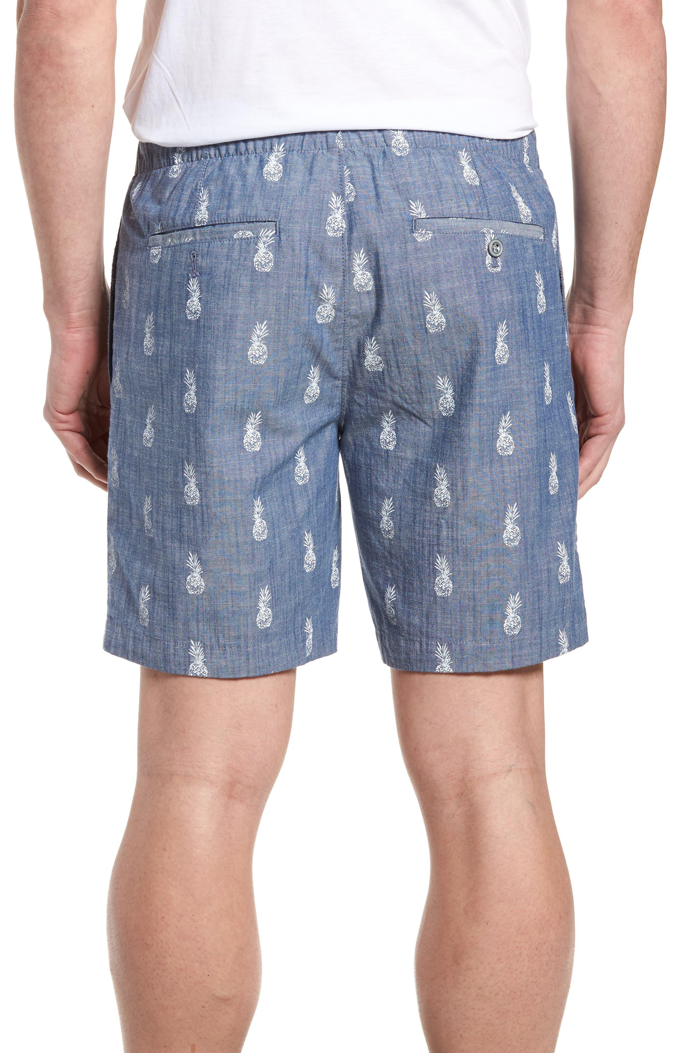BONOBOS,                             Print Chambray Shorts,                             Alternate thumbnail 2, color,                             400