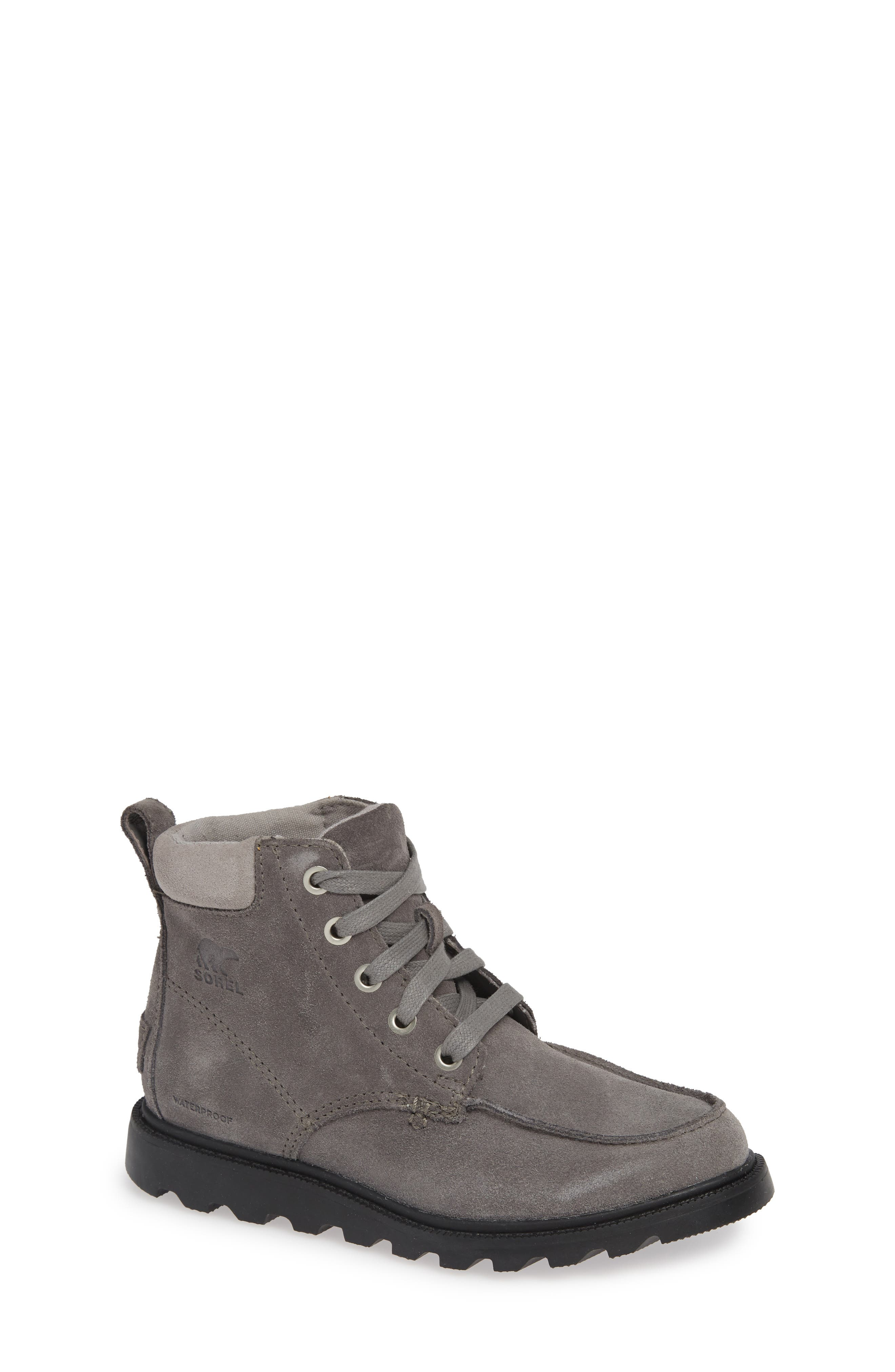 Madson Waterproof Moc Toe Boot,                         Main,                         color, QUARRY/ CHROME
