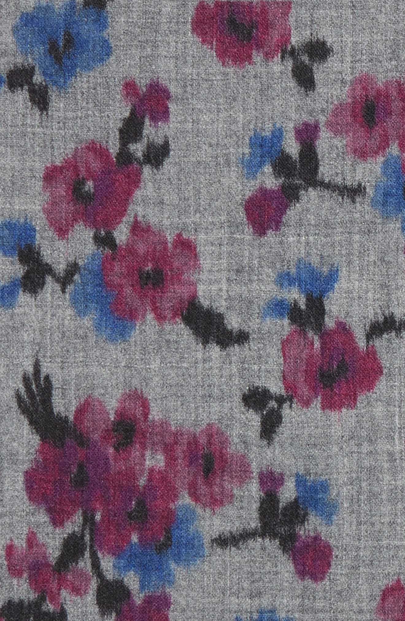 Floral Wool Pocket Square,                             Alternate thumbnail 3, color,                             020