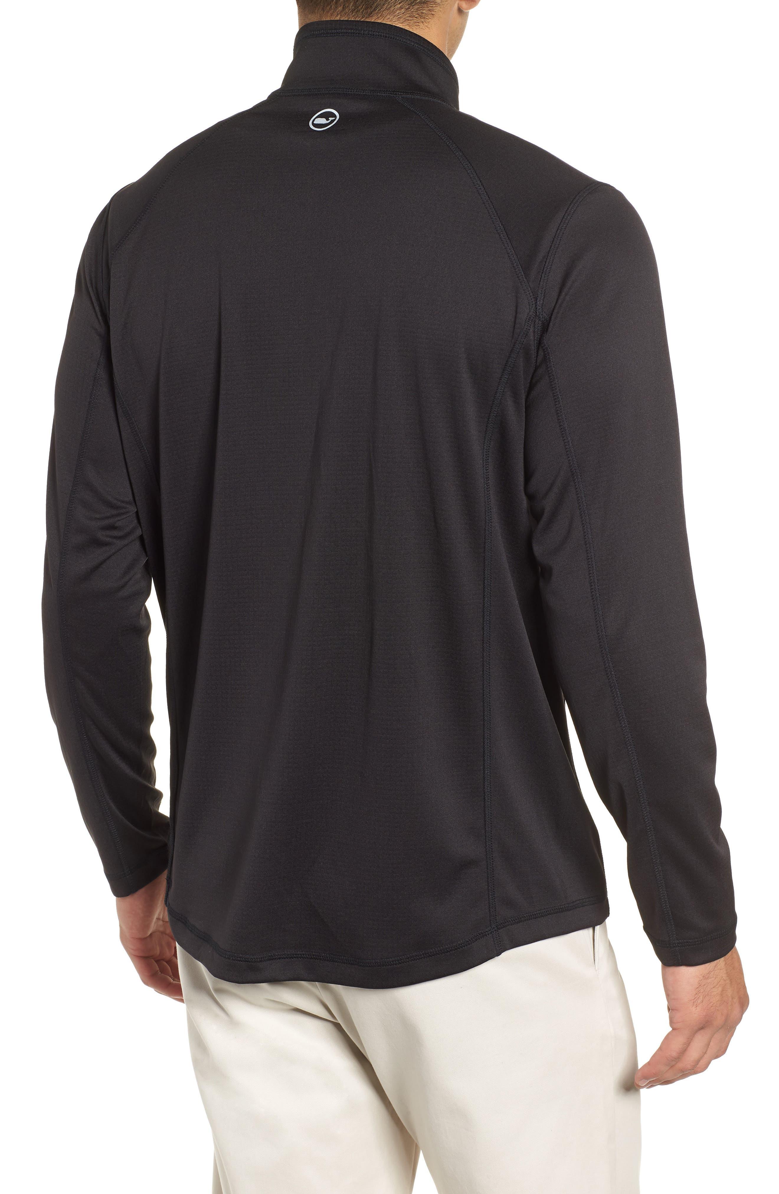 The New Nine Mile Half Zip Pullover,                             Alternate thumbnail 2, color,                             JET BLACK