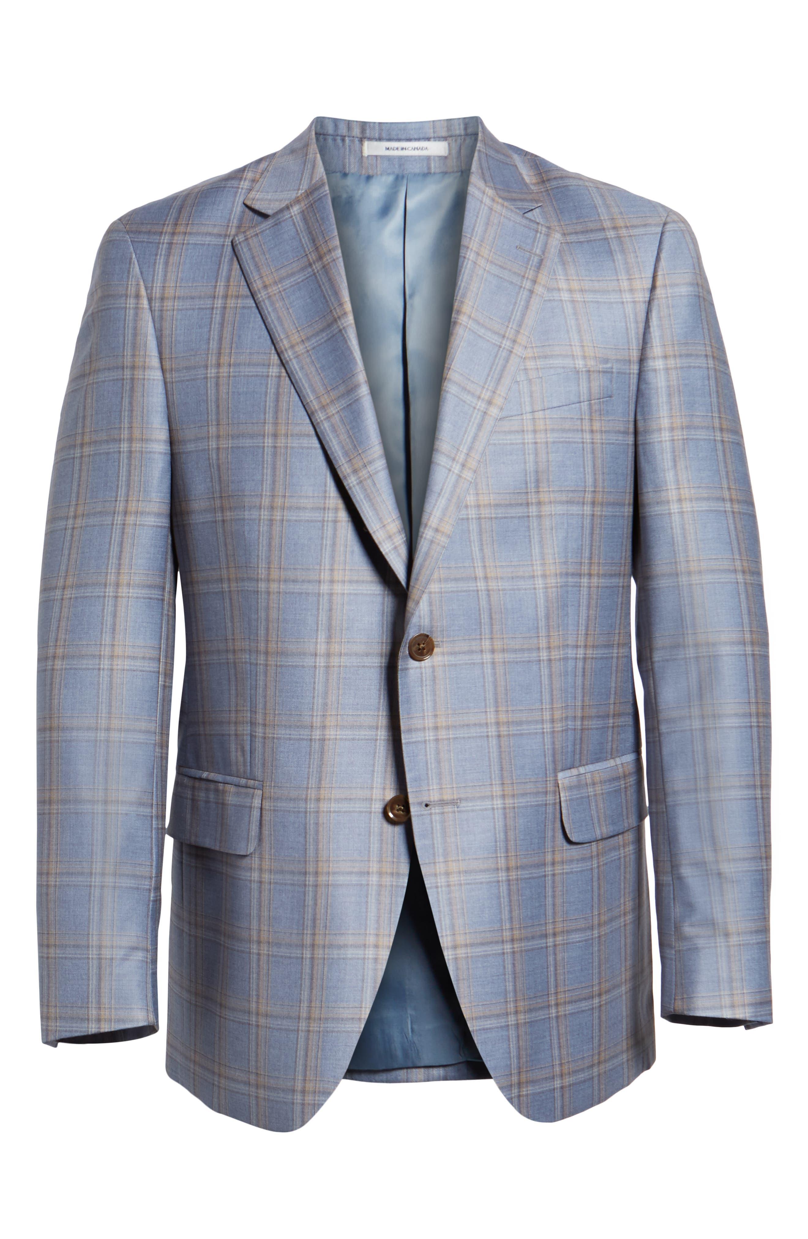 PETER MILLAR,                             Flynn Classic Fit Wool Sport Coat,                             Alternate thumbnail 5, color,                             LIGHT BLUE