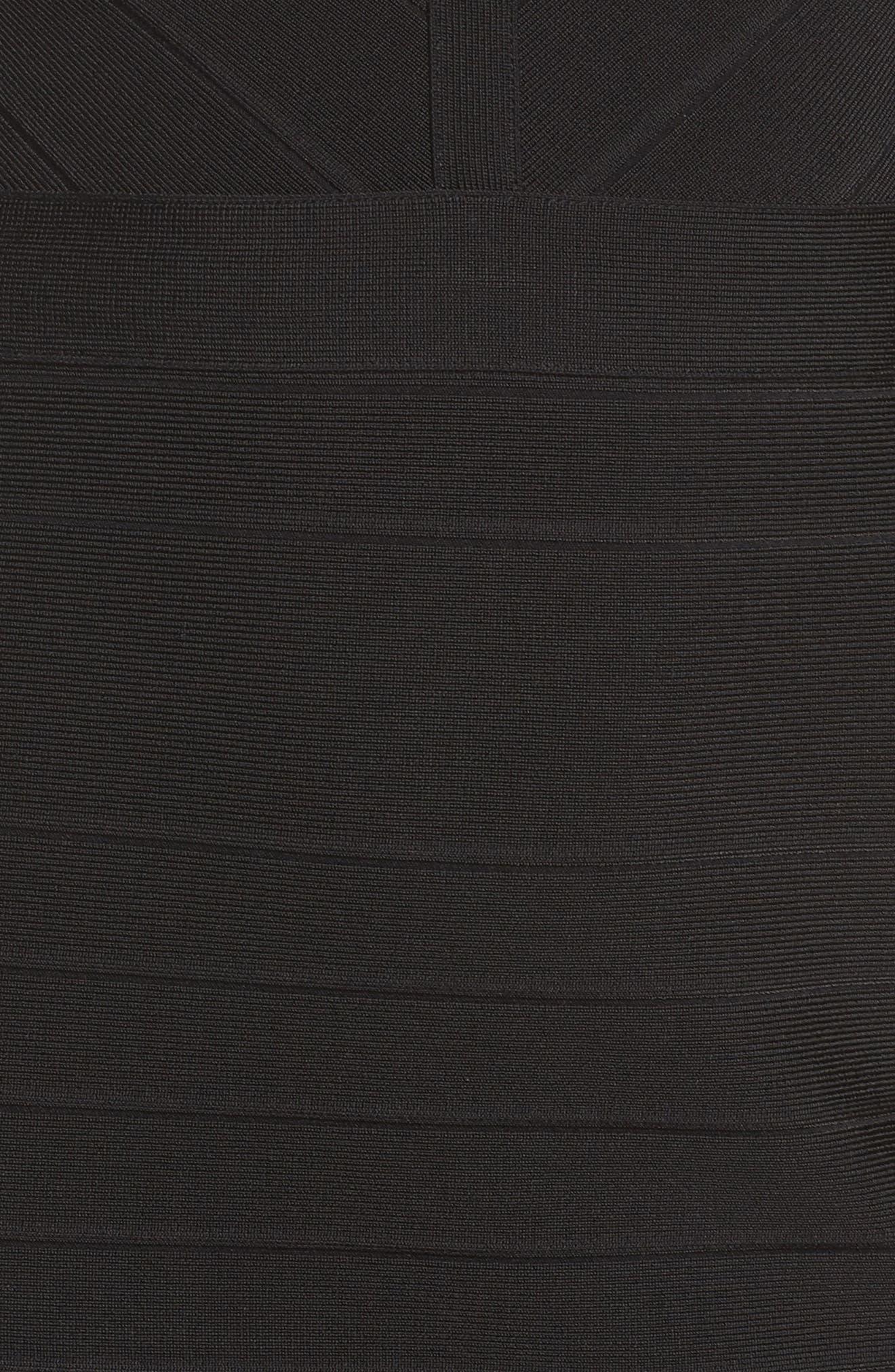 Bandage Midi Dress,                             Alternate thumbnail 6, color,                             001
