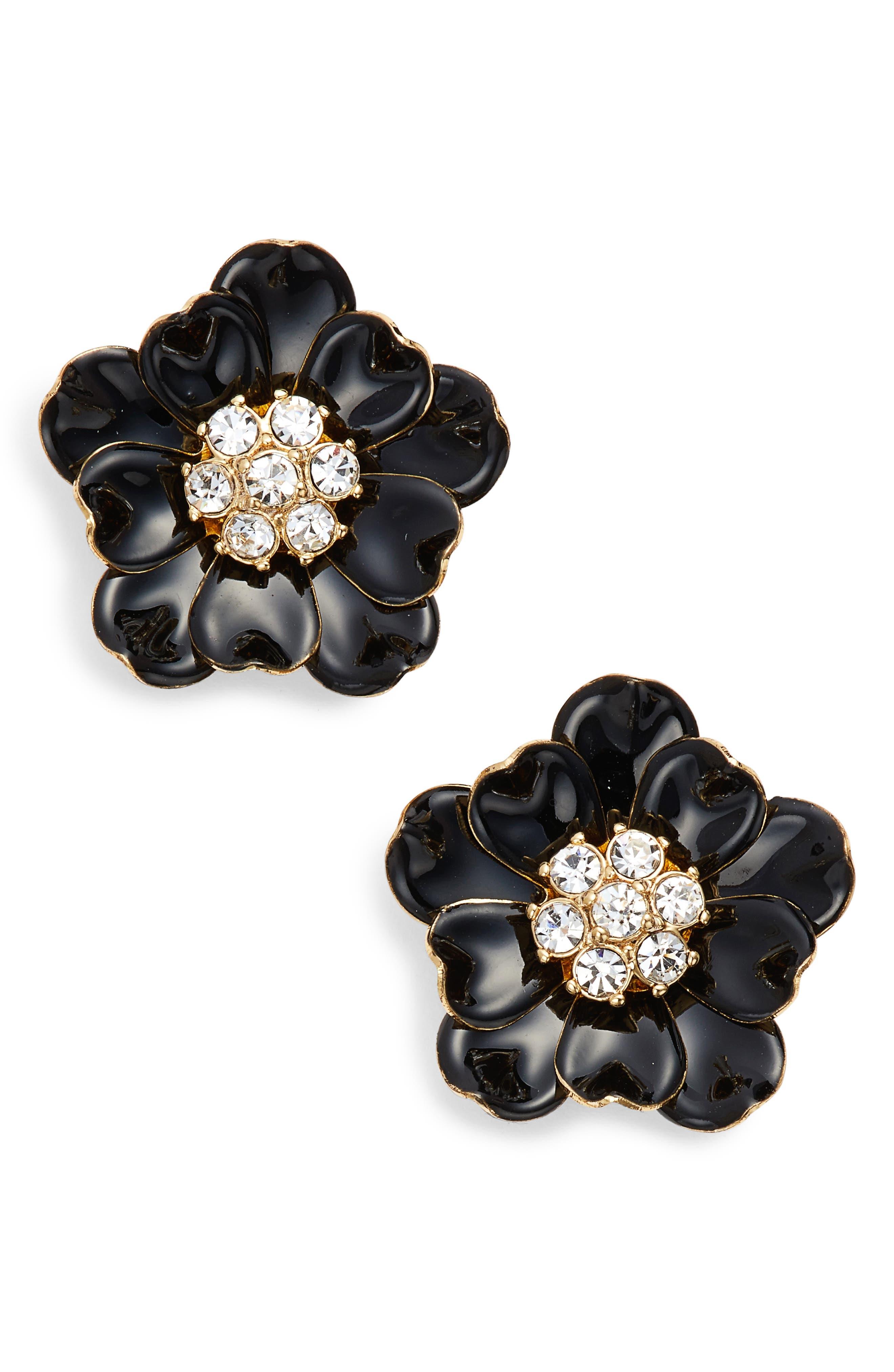 precious poppies stud earrings,                         Main,                         color, 006