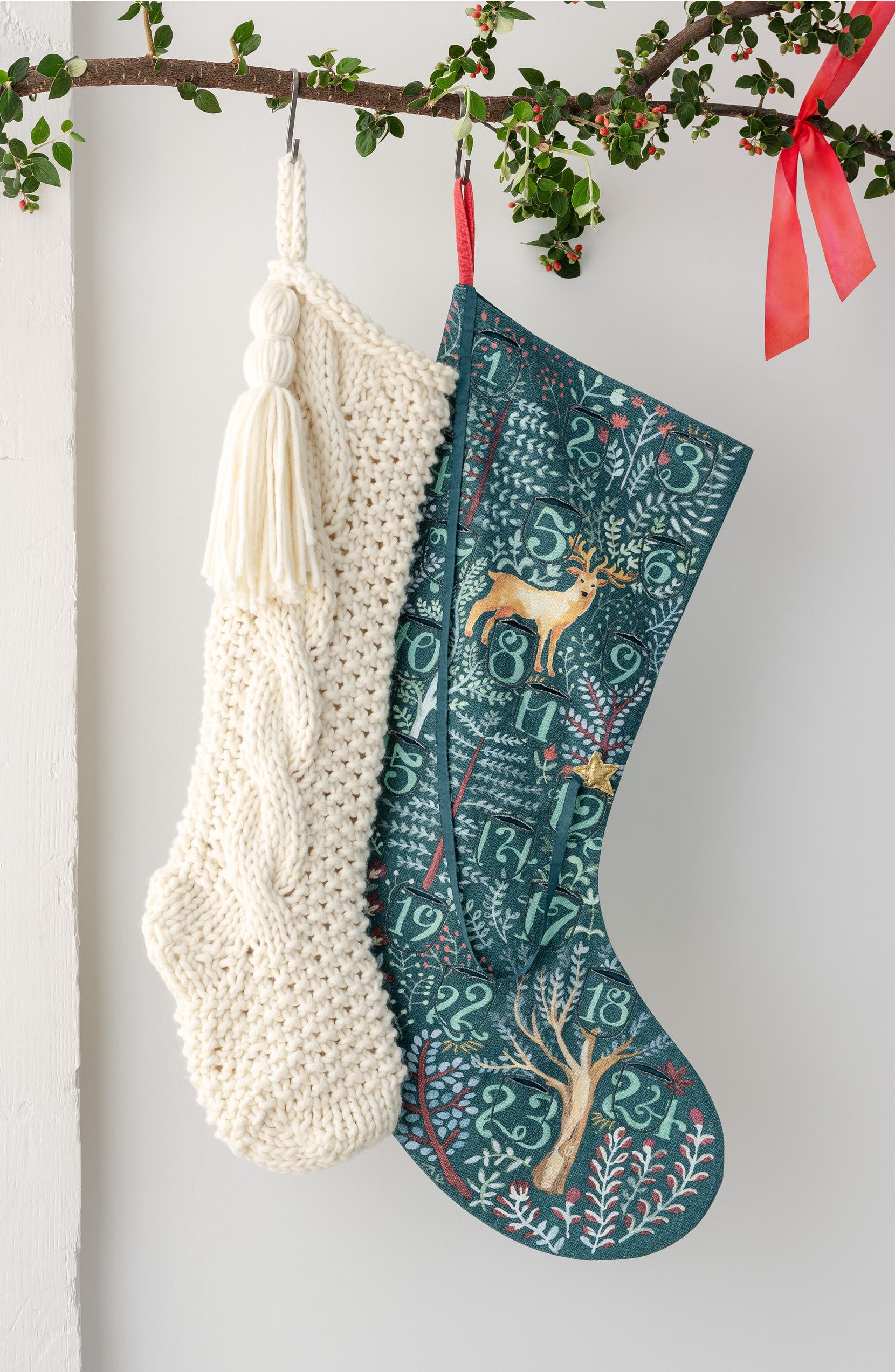 Nordstrom at Home Cable Knit Stocking   Nordstrom