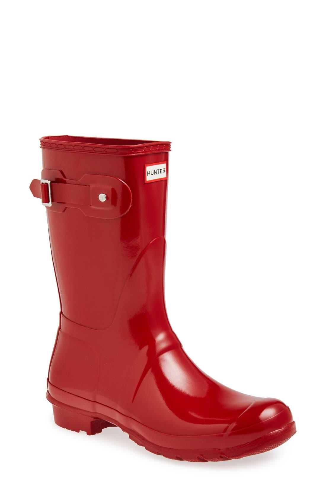 'Original Short' Gloss Rain Boot,                             Main thumbnail 1, color,                             625