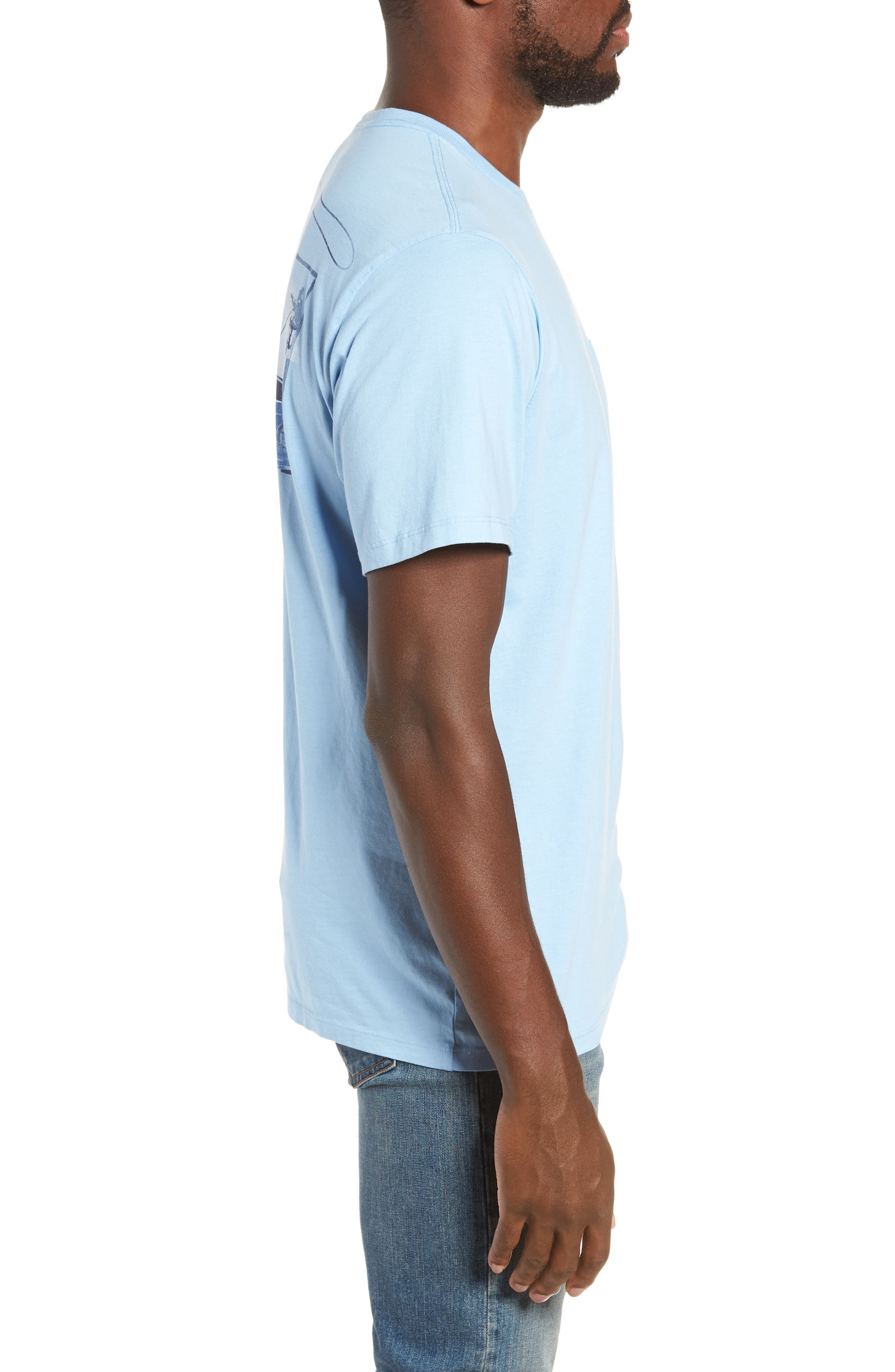 Flats Fishing Pocket T-Shirt,                             Alternate thumbnail 3, color,                             456