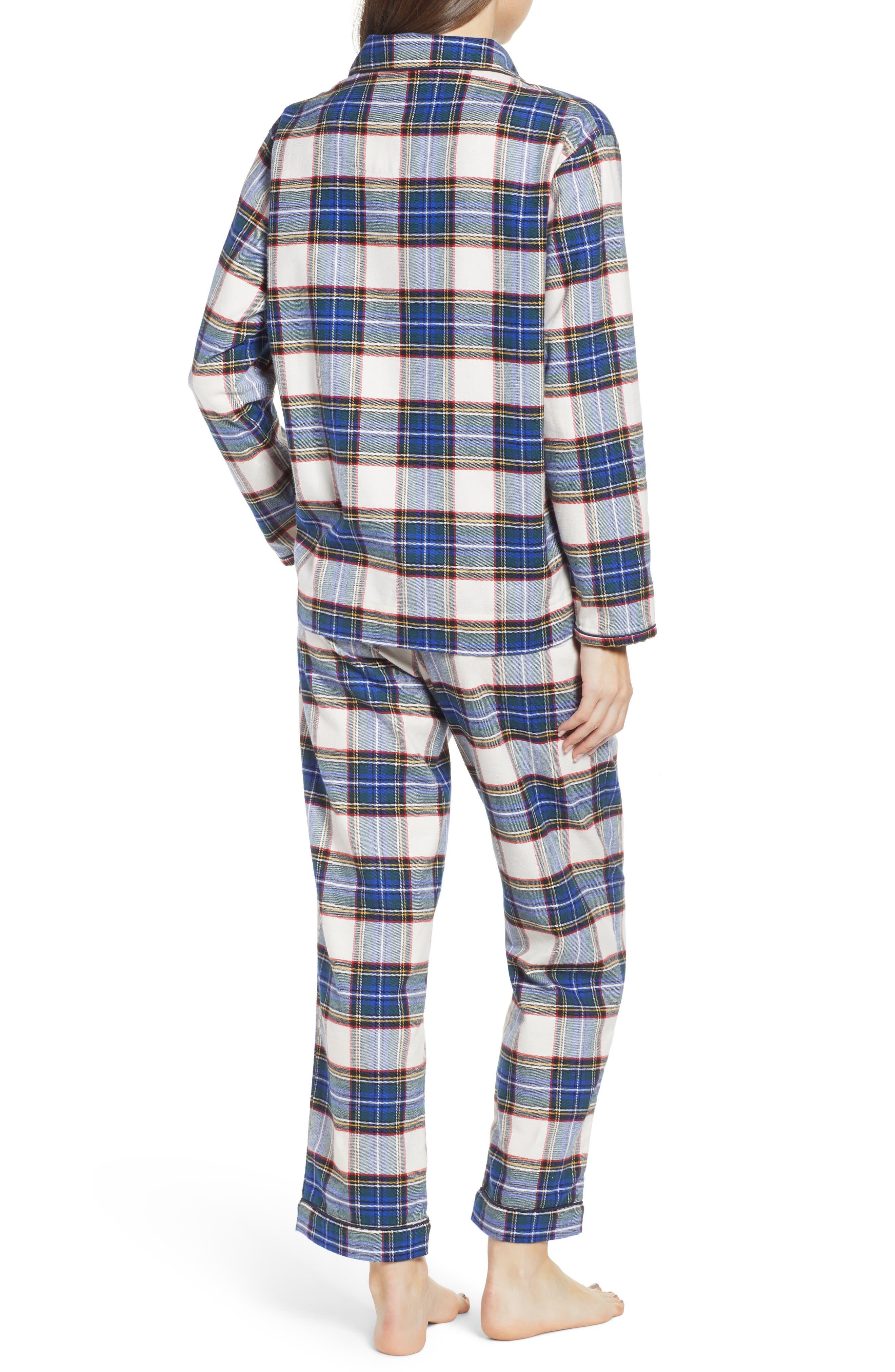 Bishop Women's Pajamas,                             Alternate thumbnail 2, color,                             FLANNEL PLAID