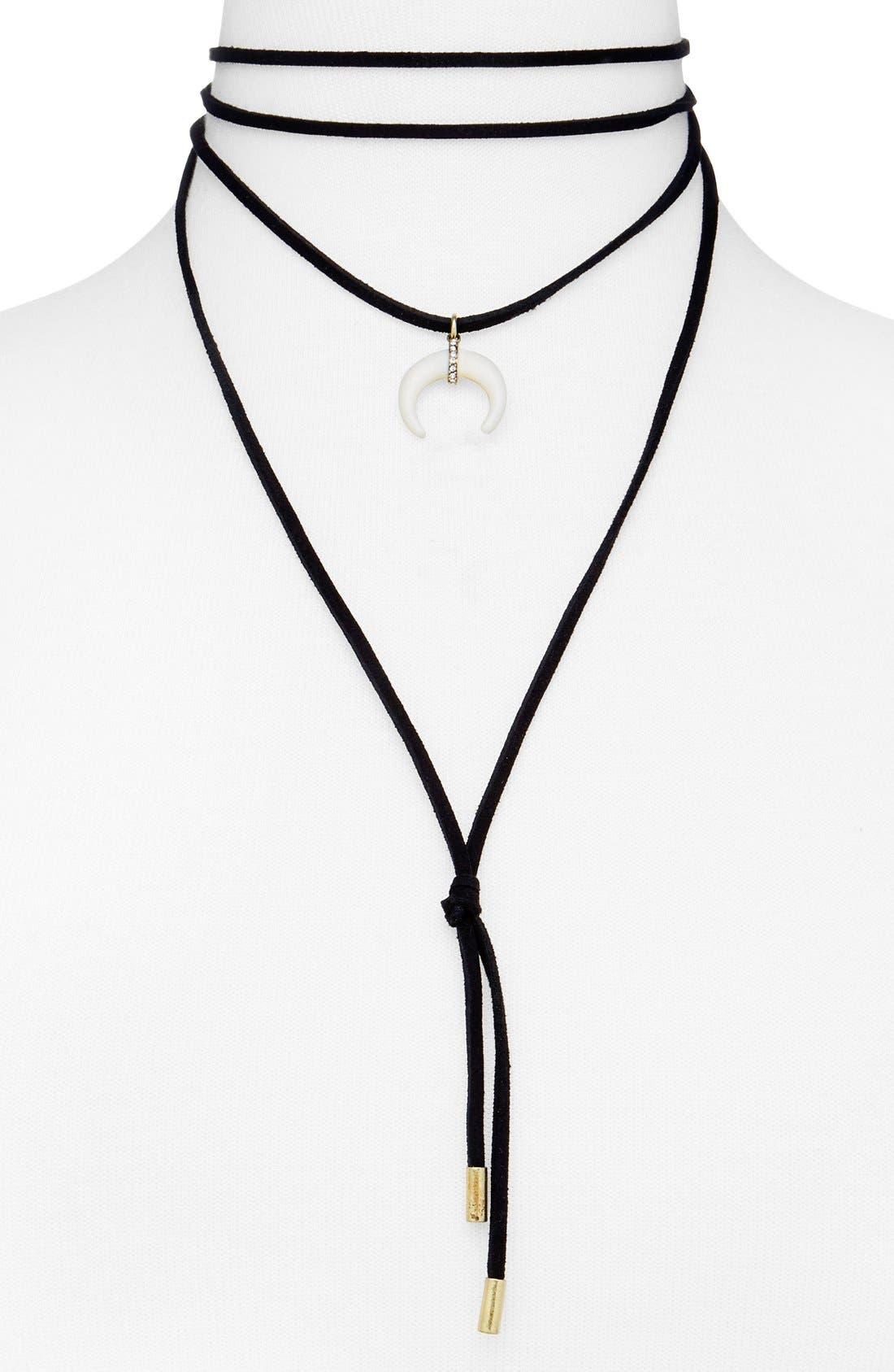 Moana Lariat Choker Necklace,                             Main thumbnail 1, color,                             001