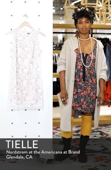 Sleeveless Eyelash Lace Sheath Dress, sales video thumbnail