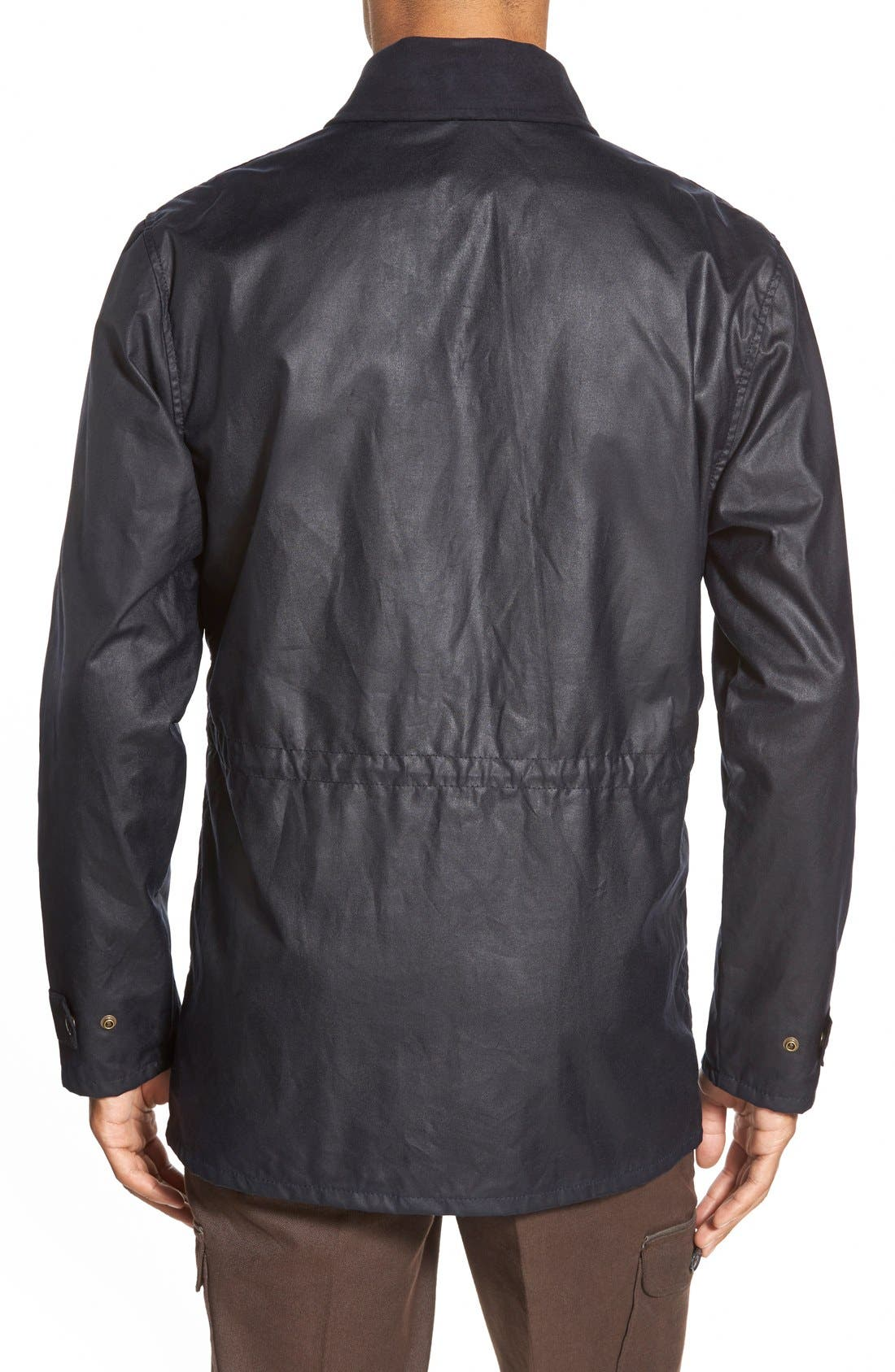 'Cover Cloth Mile Marker' Waxed Cotton Coat,                             Alternate thumbnail 6, color,