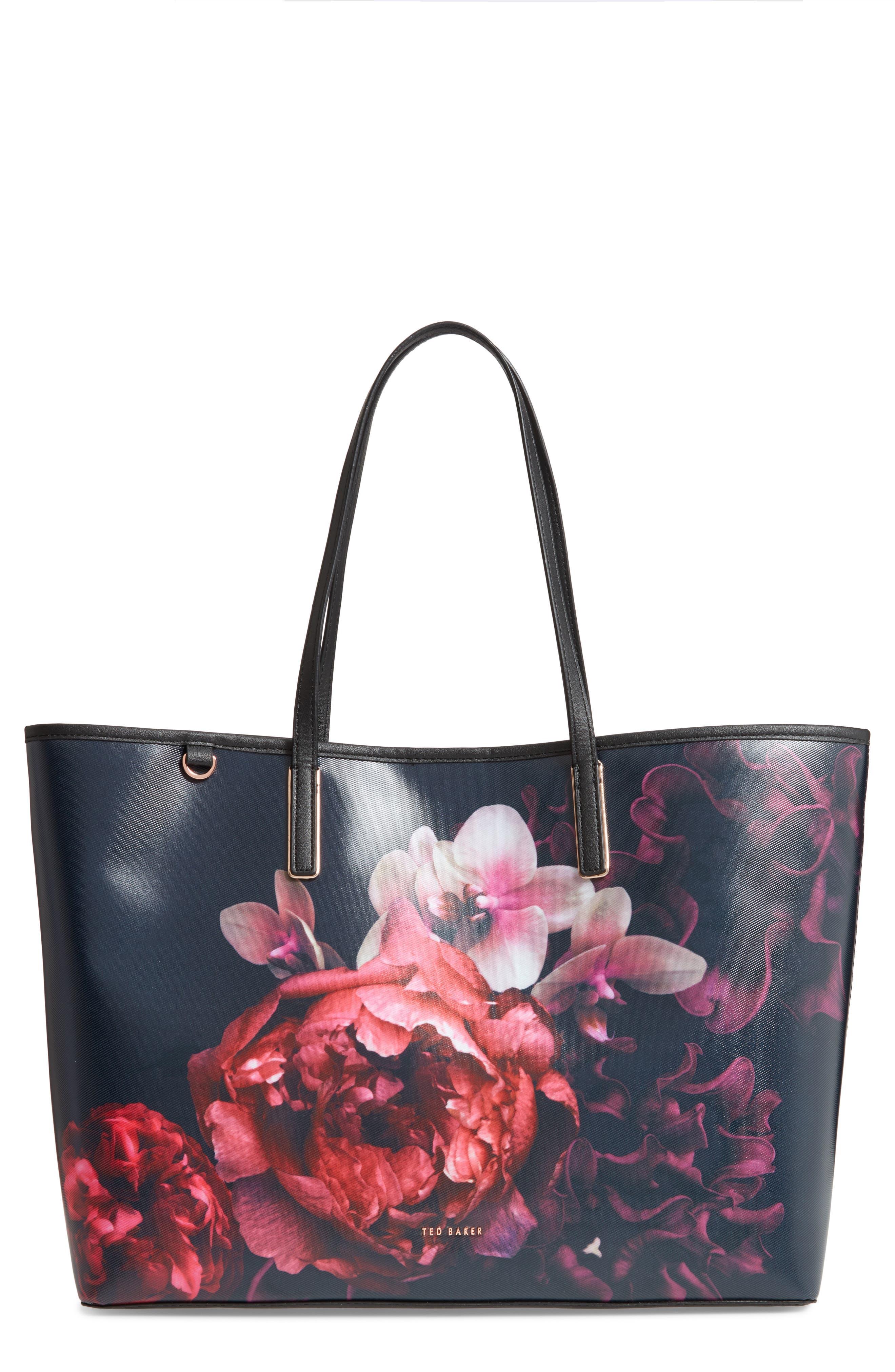 Splendour Coated Canvas Shopper,                             Main thumbnail 1, color,                             001