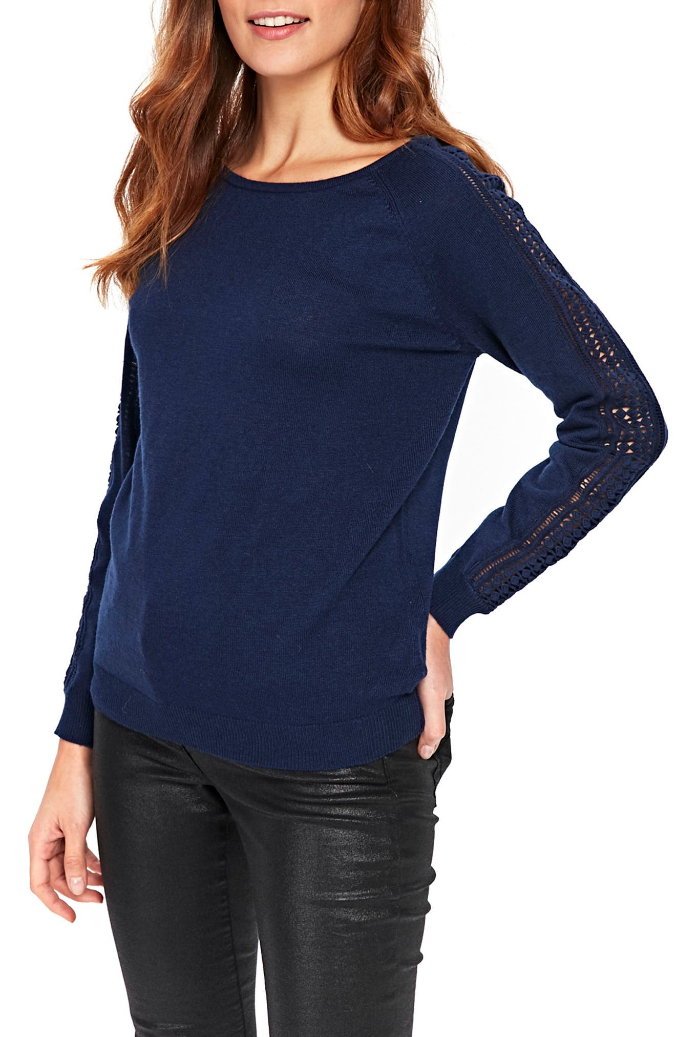Lace Trim Sweater,                         Main,                         color, 400