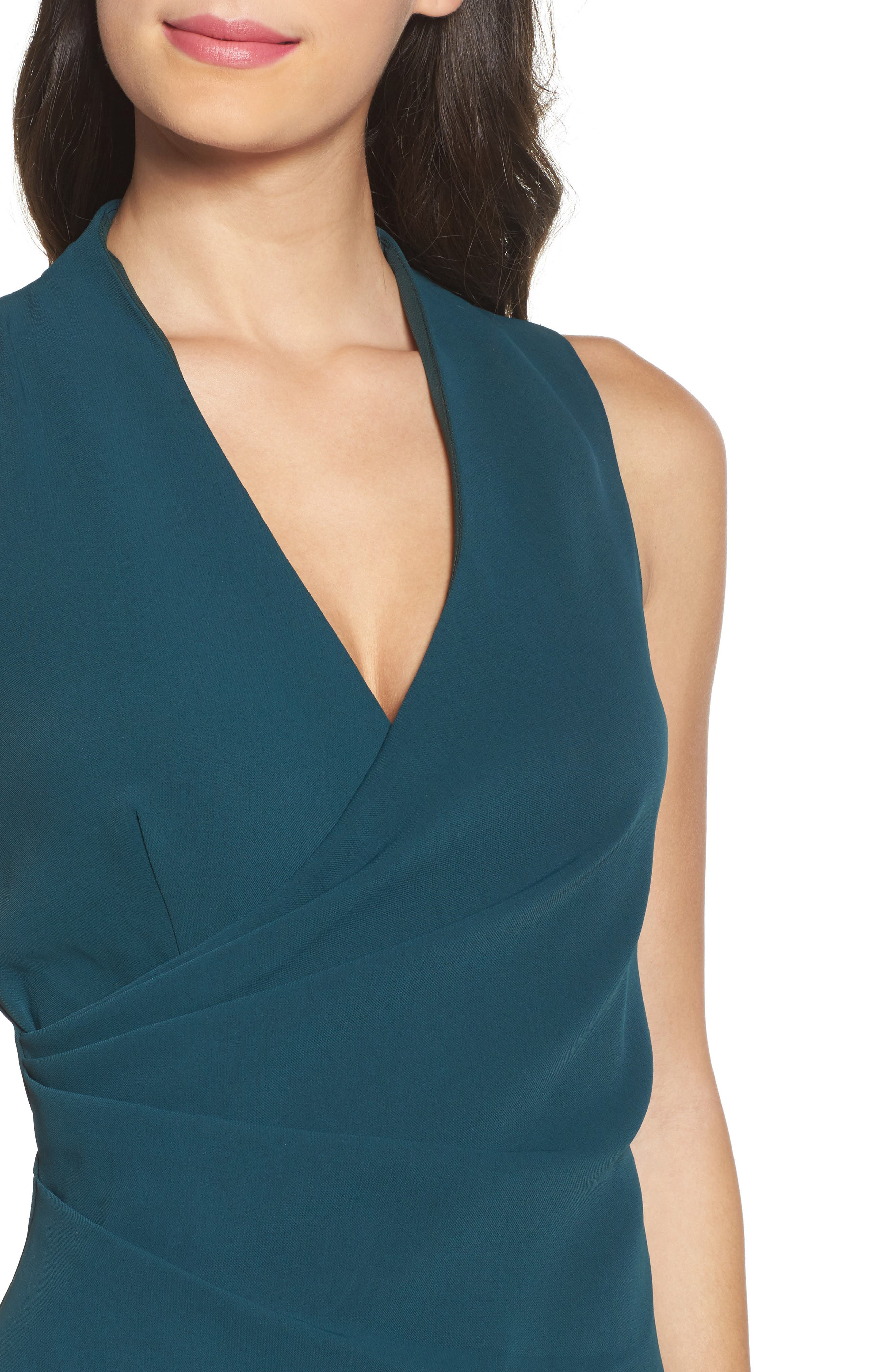 Teri Faux Wrap Sheath Dress,                             Alternate thumbnail 4, color,                             401