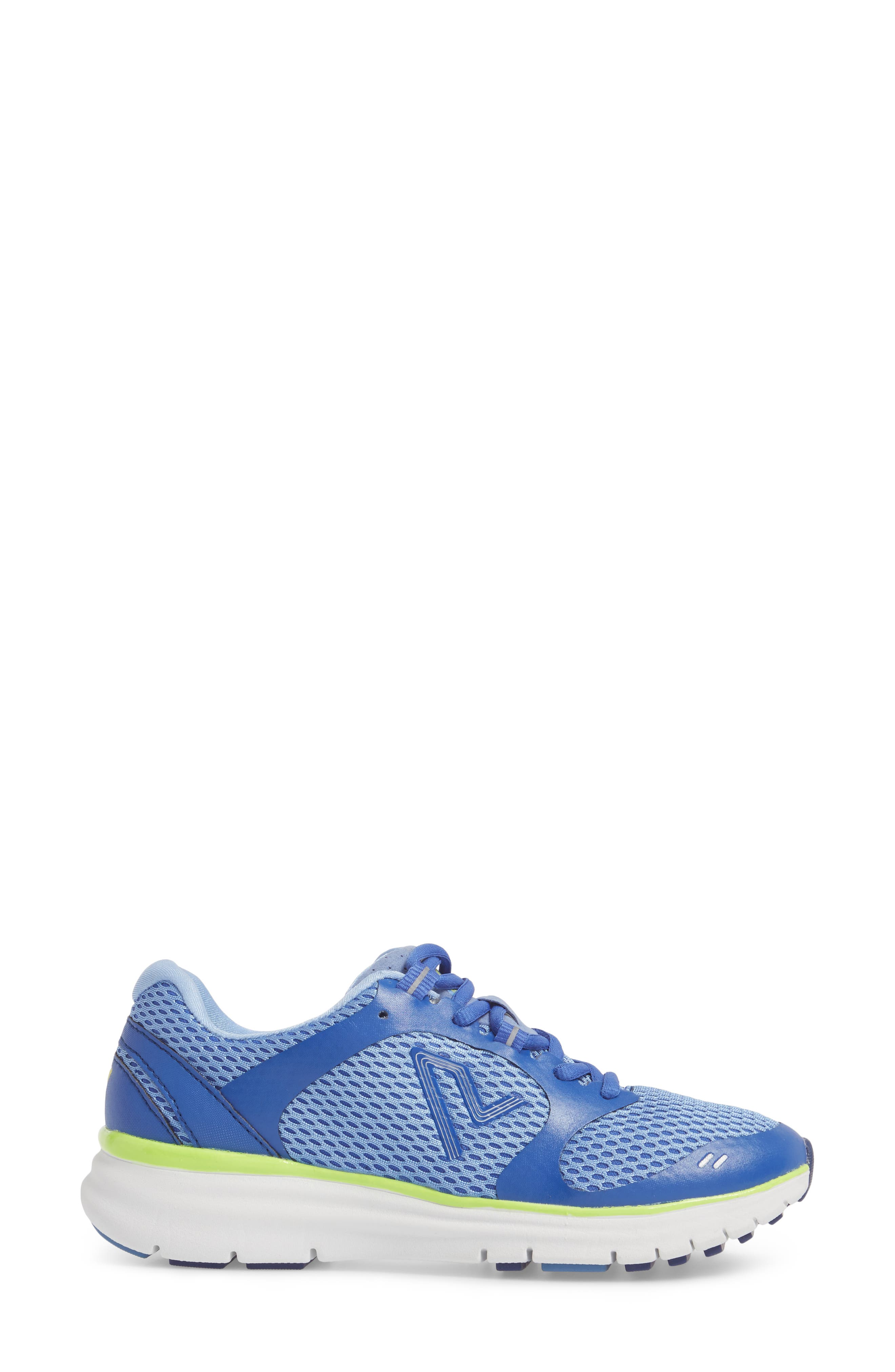 Elation Sneaker,                             Alternate thumbnail 3, color,                             BLUE/ YELLOW