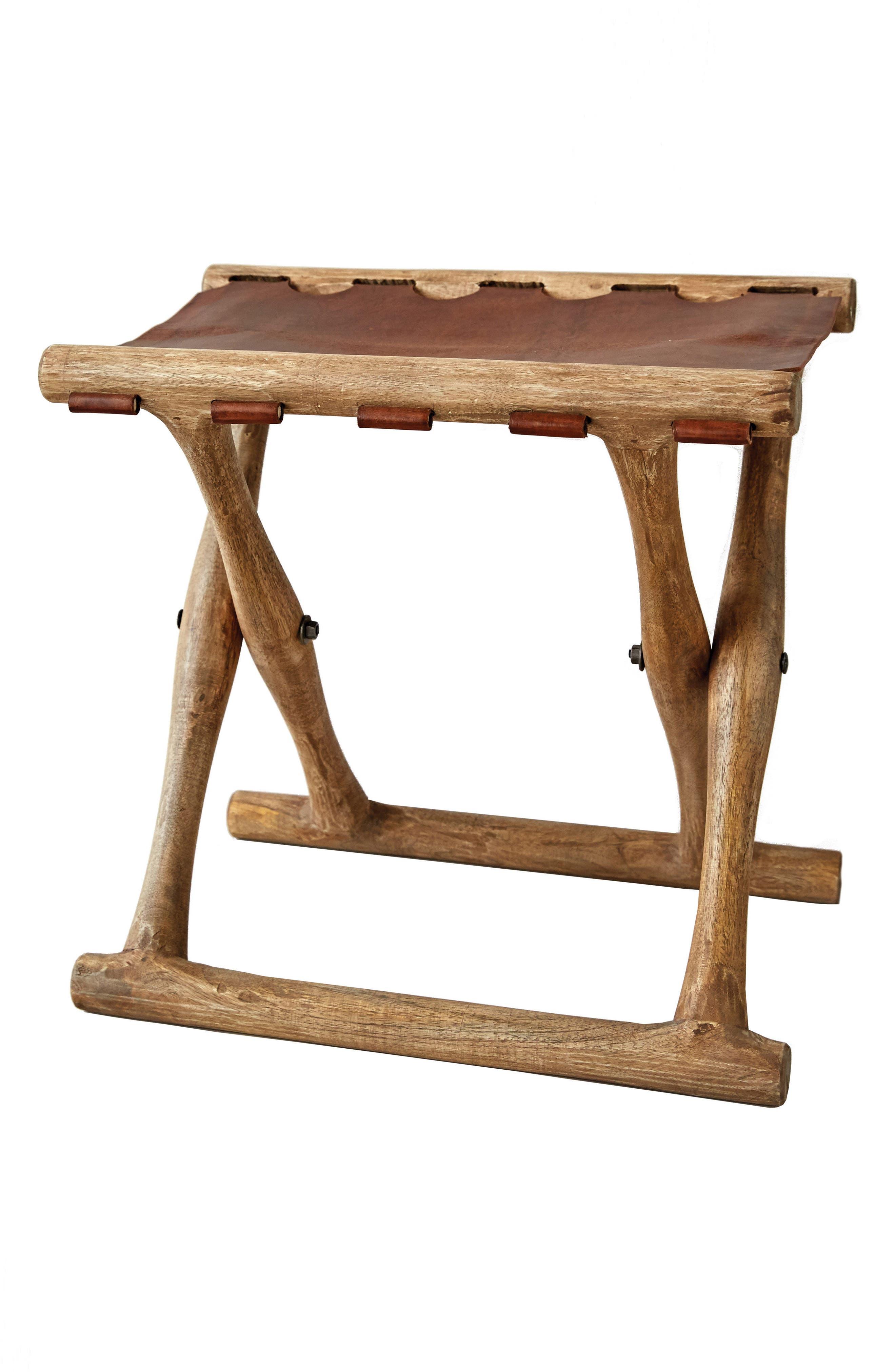 Folding Wood Stool,                         Main,                         color, 200