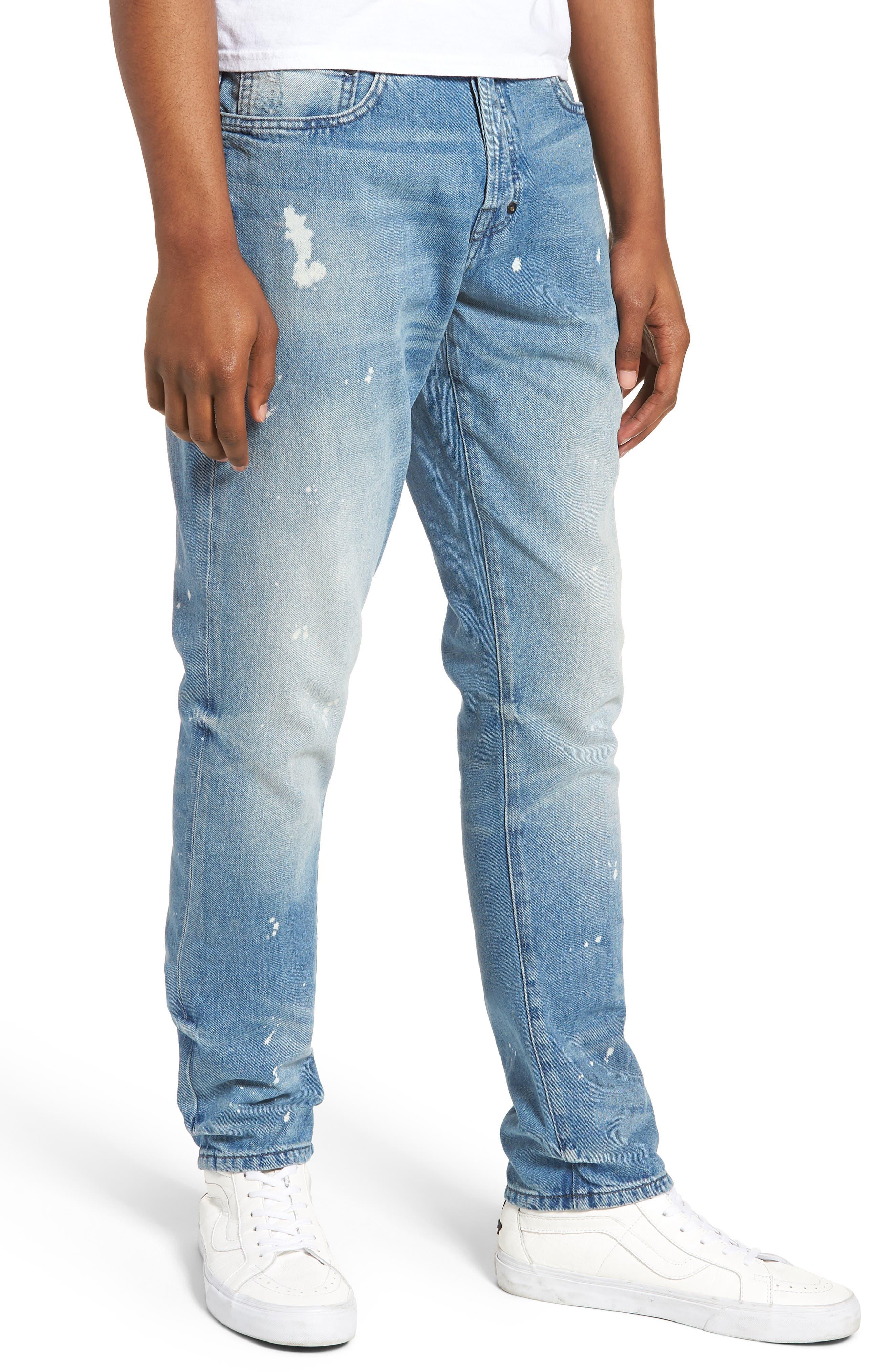 PRPS Le Sabre Slim Fit Jeans, Main, color, TAWDRY