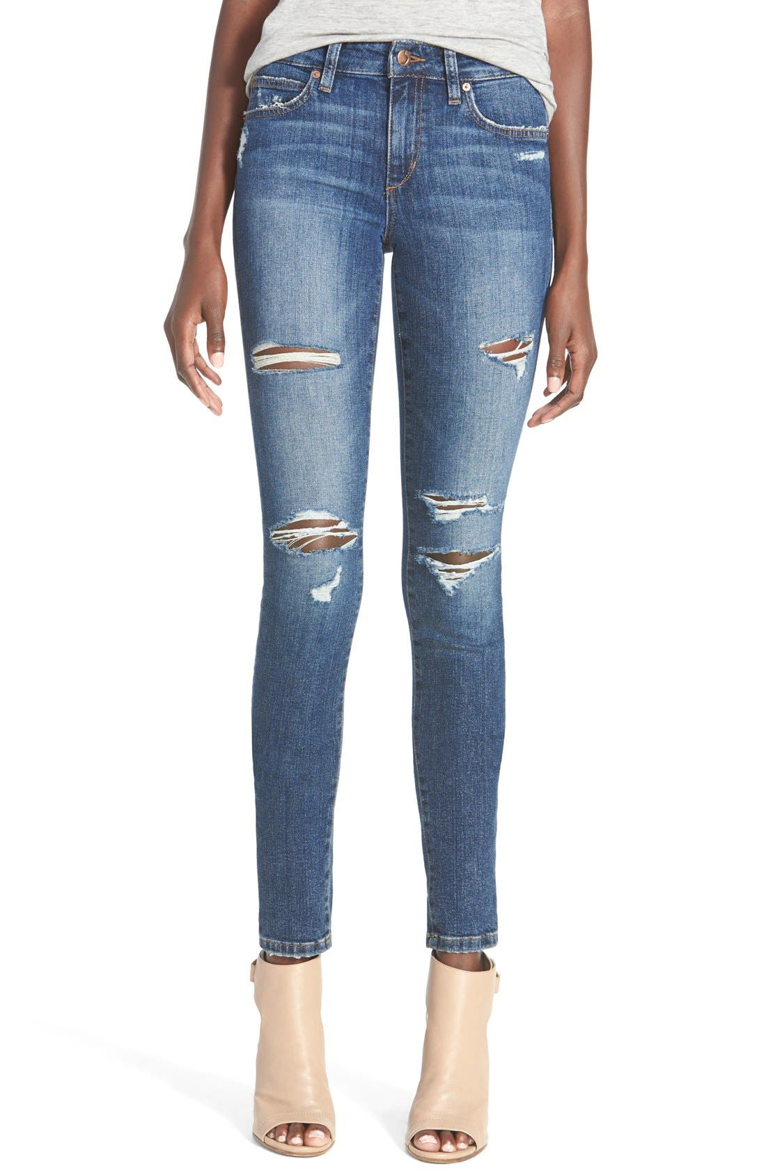 'The Icon' Skinny Jeans,                             Main thumbnail 1, color,                             410