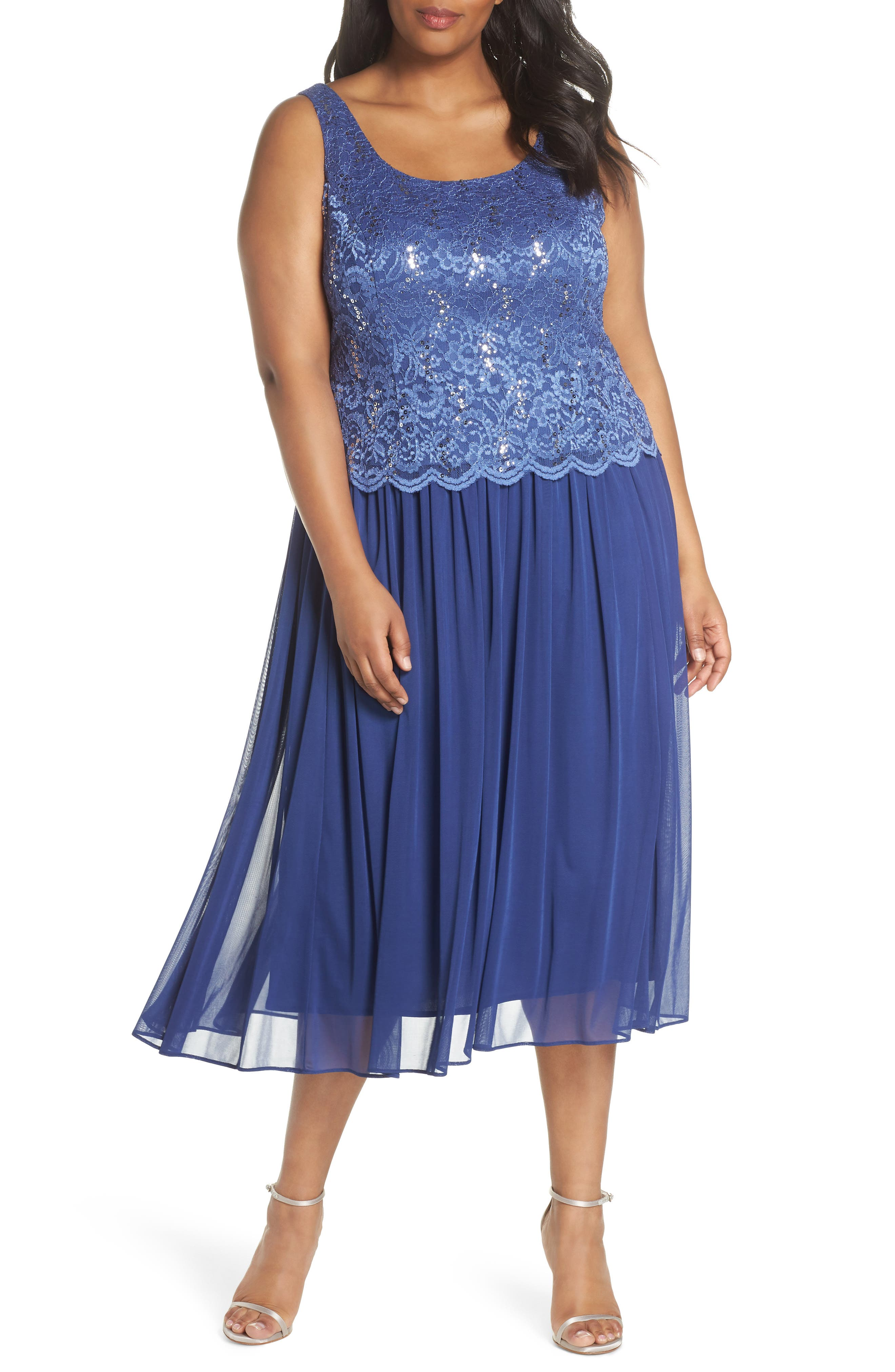 Lace Bodice Dress with Jacket,                             Alternate thumbnail 3, color,                             543