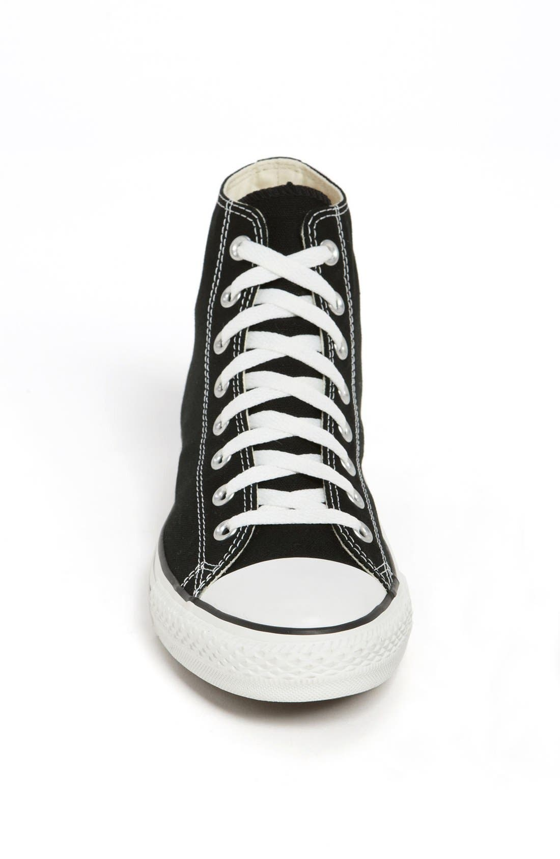 Chuck Taylor<sup>®</sup> High Top Sneaker,                             Alternate thumbnail 3, color,                             BLACK