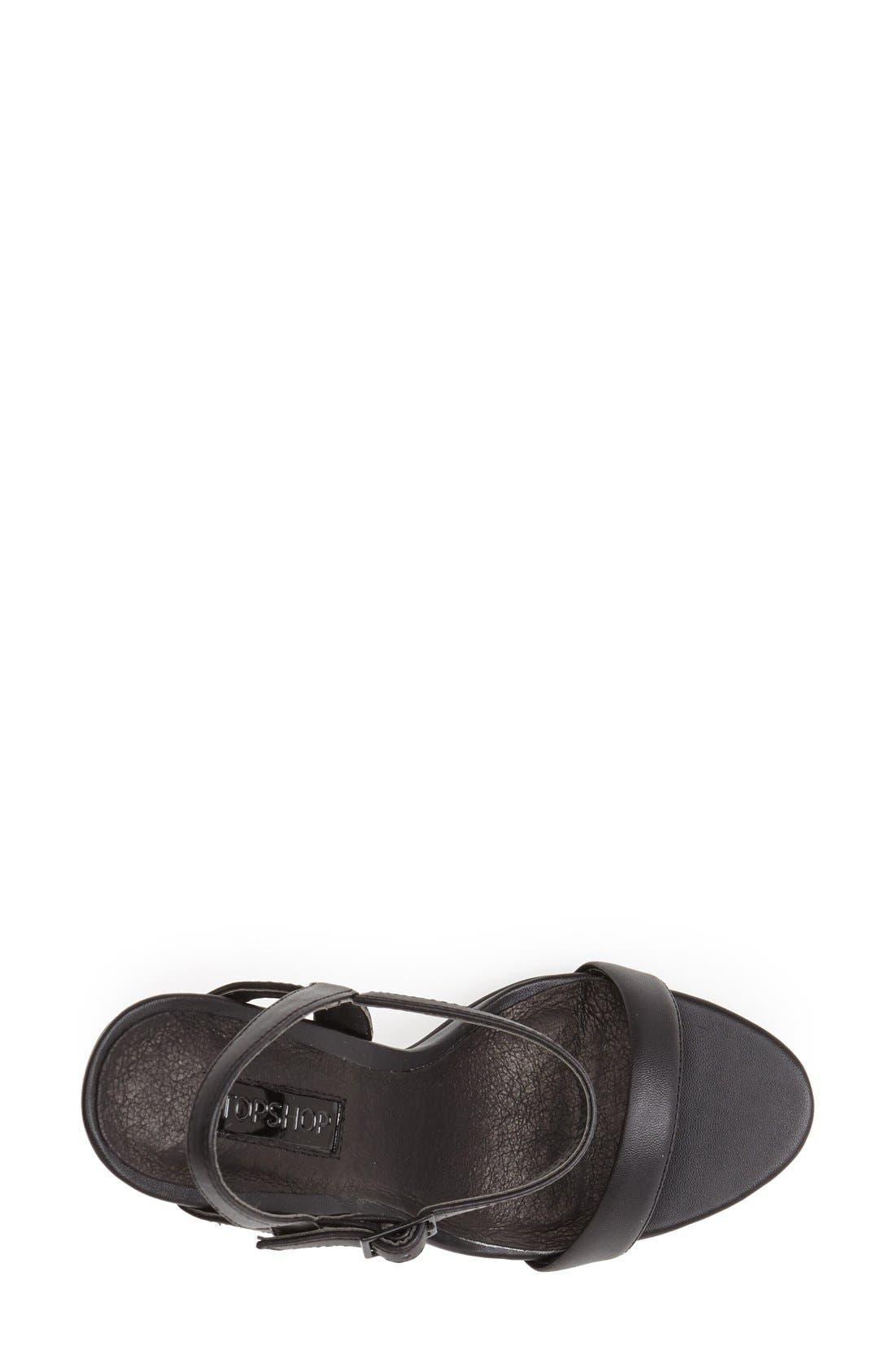 'Rolo' Ankle Strap Sandal,                             Alternate thumbnail 3, color,                             001