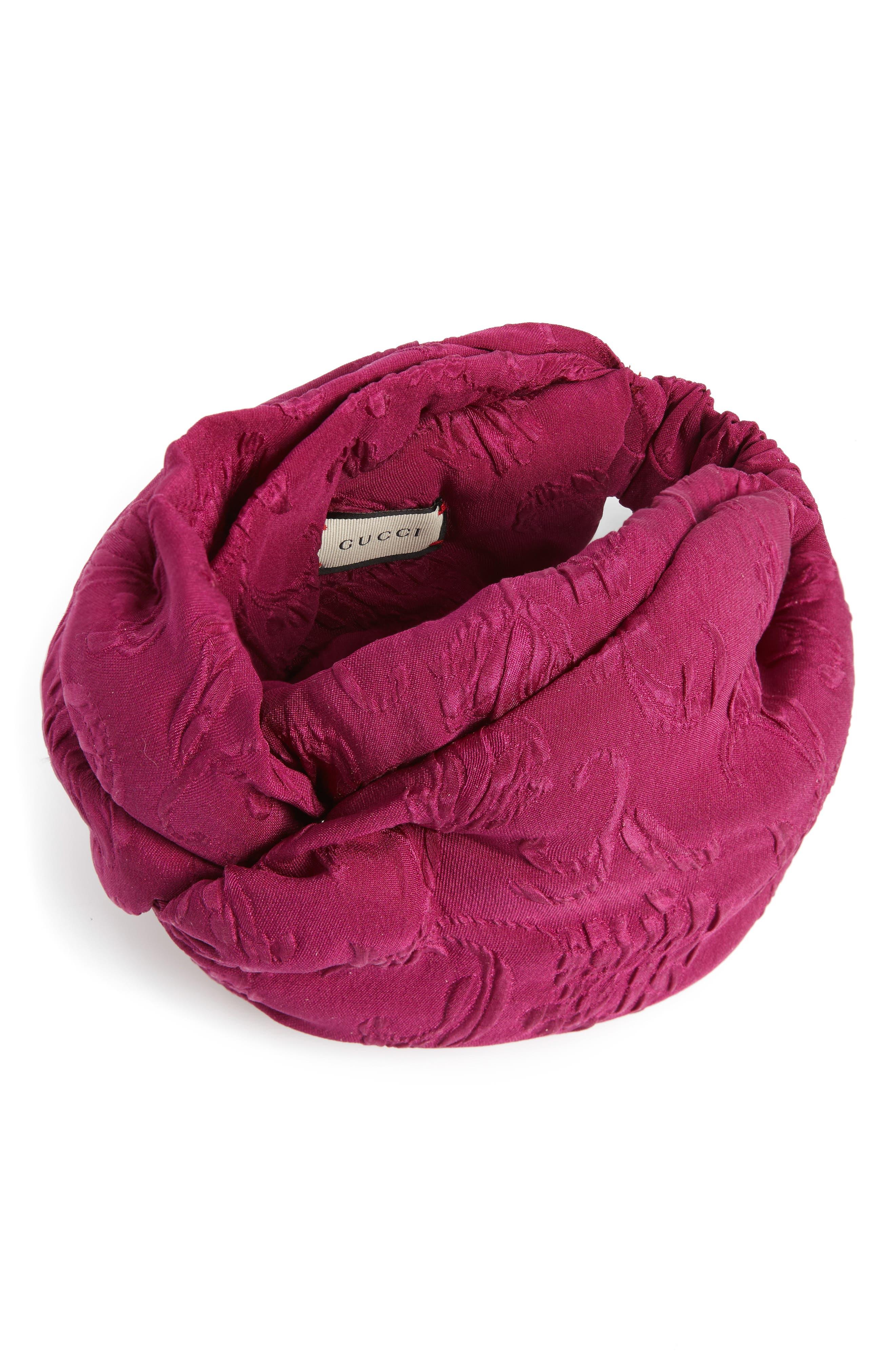 Rilly Brocade Silk Turban,                             Main thumbnail 1, color,                             MAUVE