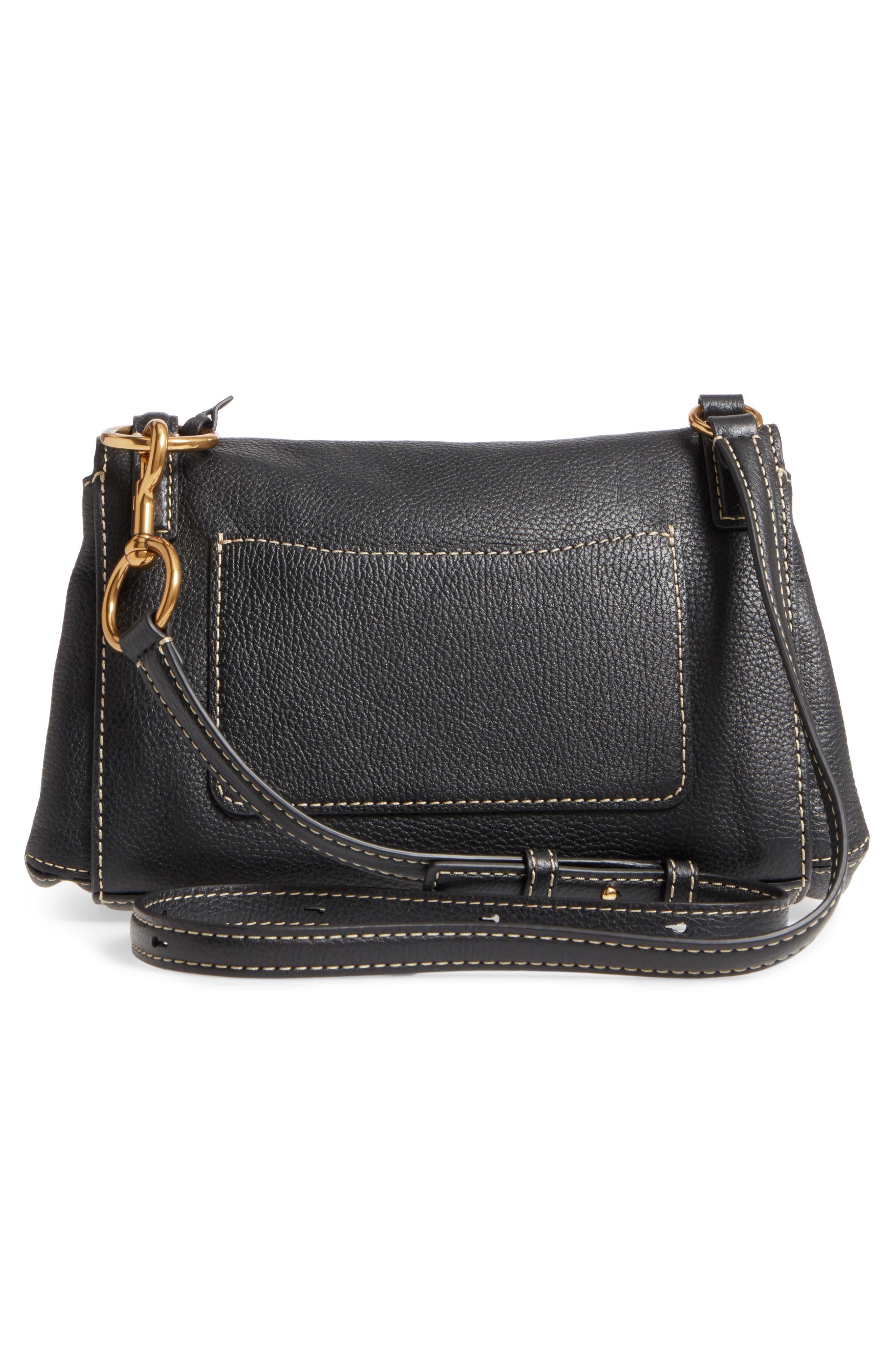 The Grind Boho Leather Shoulder Bag,                             Alternate thumbnail 3, color,                             BLACK/ GOLD