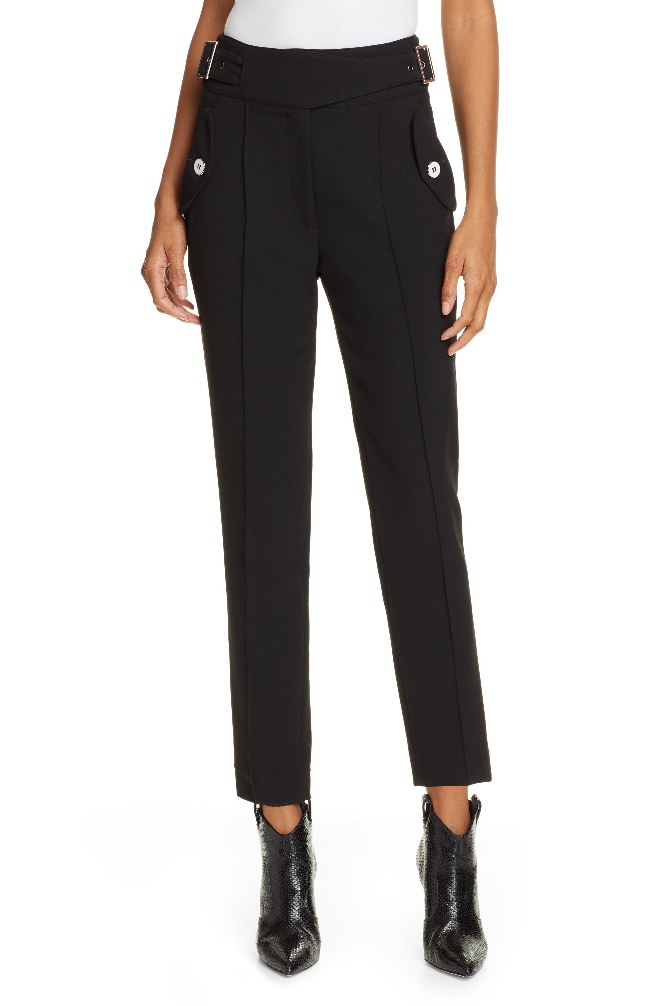 VERONICA BEARD Jaina Pants, Main, color, BLACK