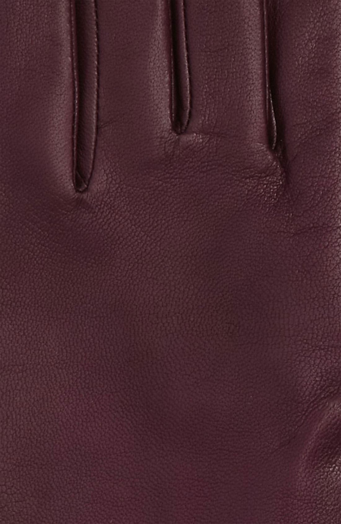'Basic Tech' Cashmere Lined Leather Gloves,                             Main thumbnail 5, color,
