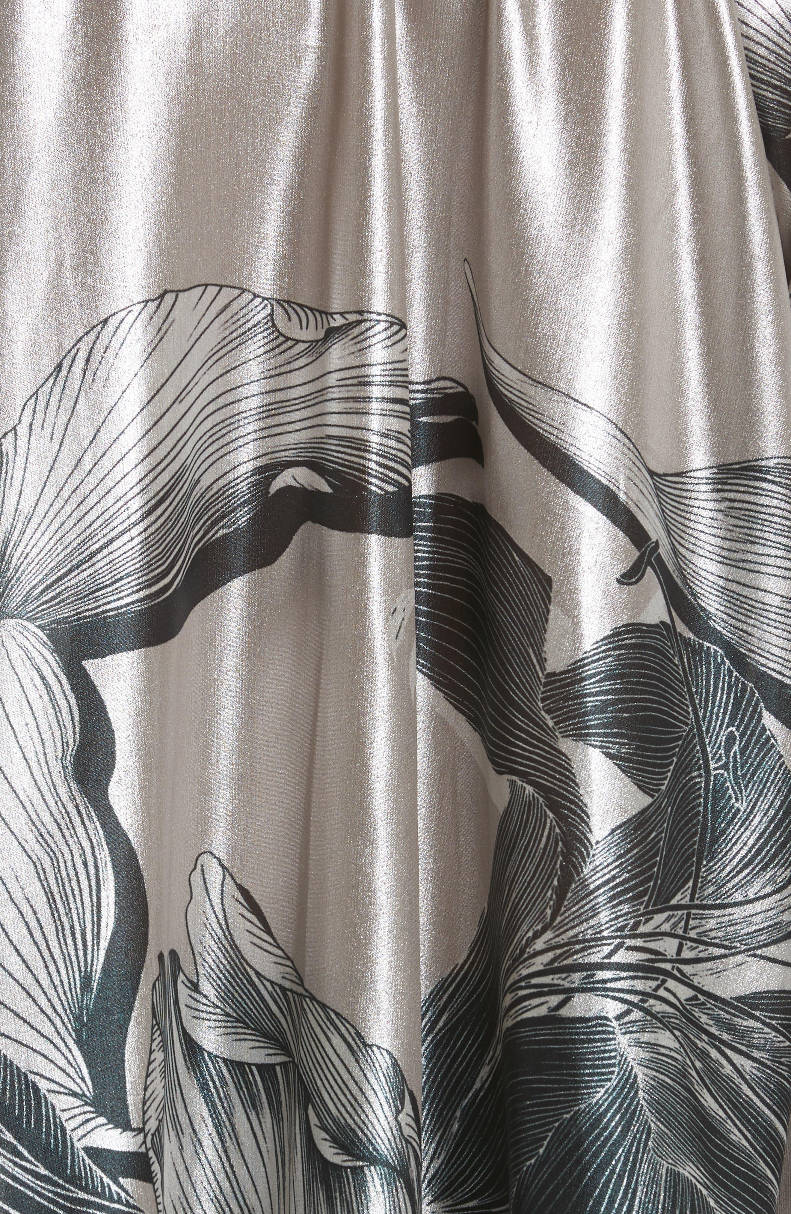 Iris Satin Silk Blend Drape Top,                             Alternate thumbnail 5, color,                             220
