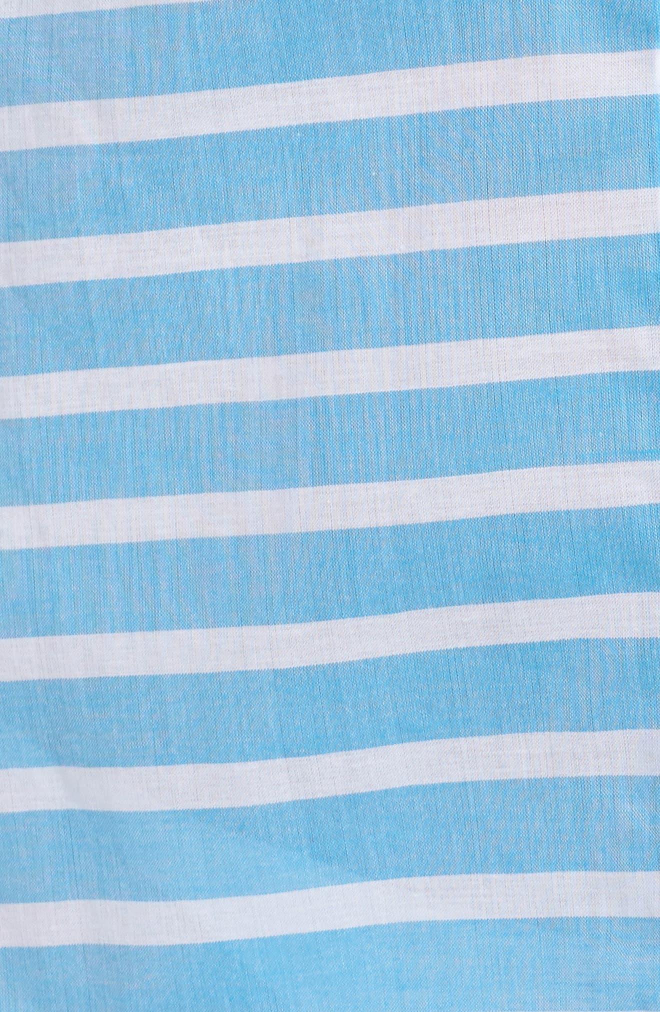 Brenton Stripe Boyfriend Shirt Cover-Up,                             Alternate thumbnail 14, color,