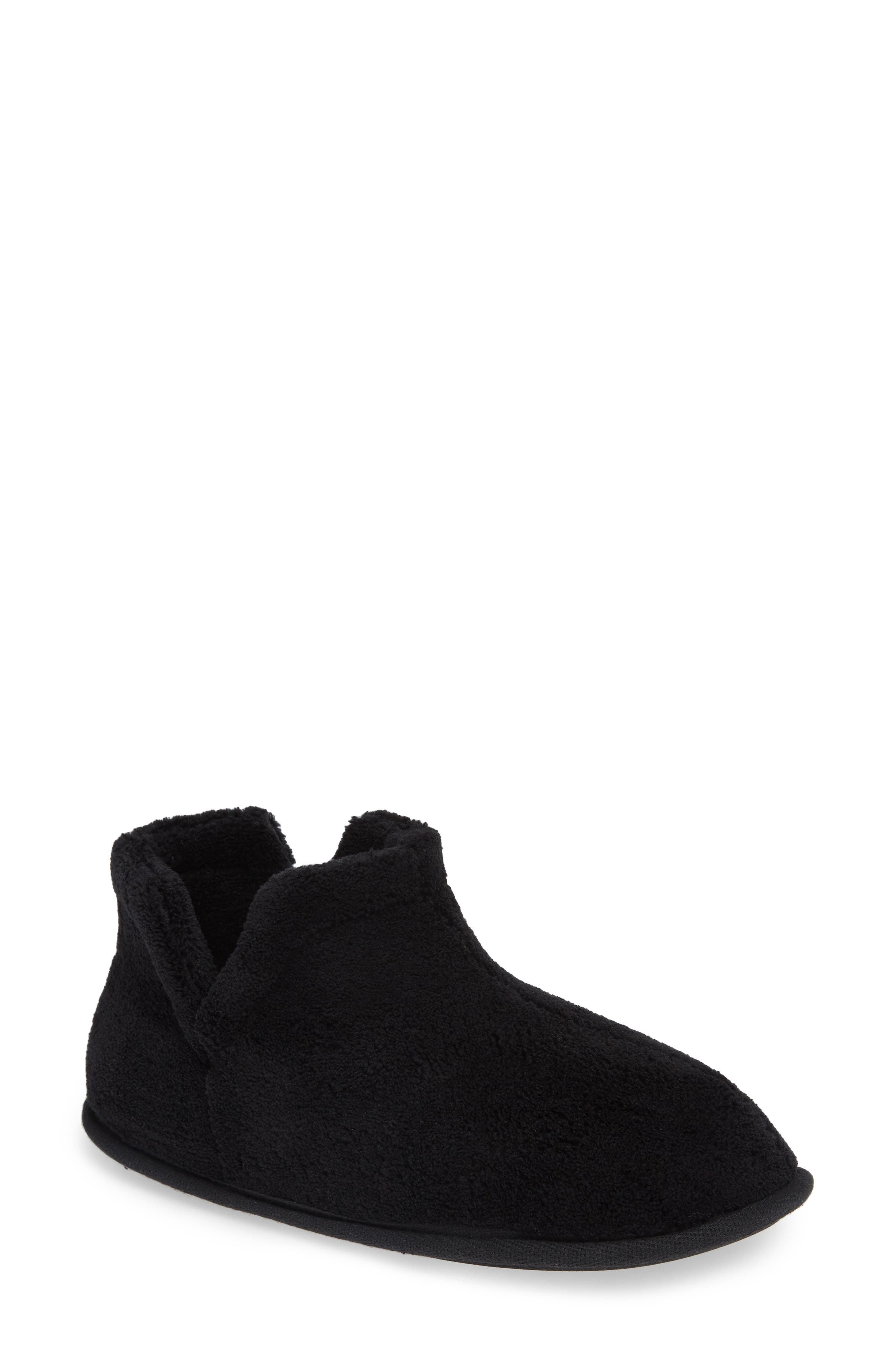 Evalyn Slipper Bootie,                             Main thumbnail 1, color,                             BLACK FABRIC