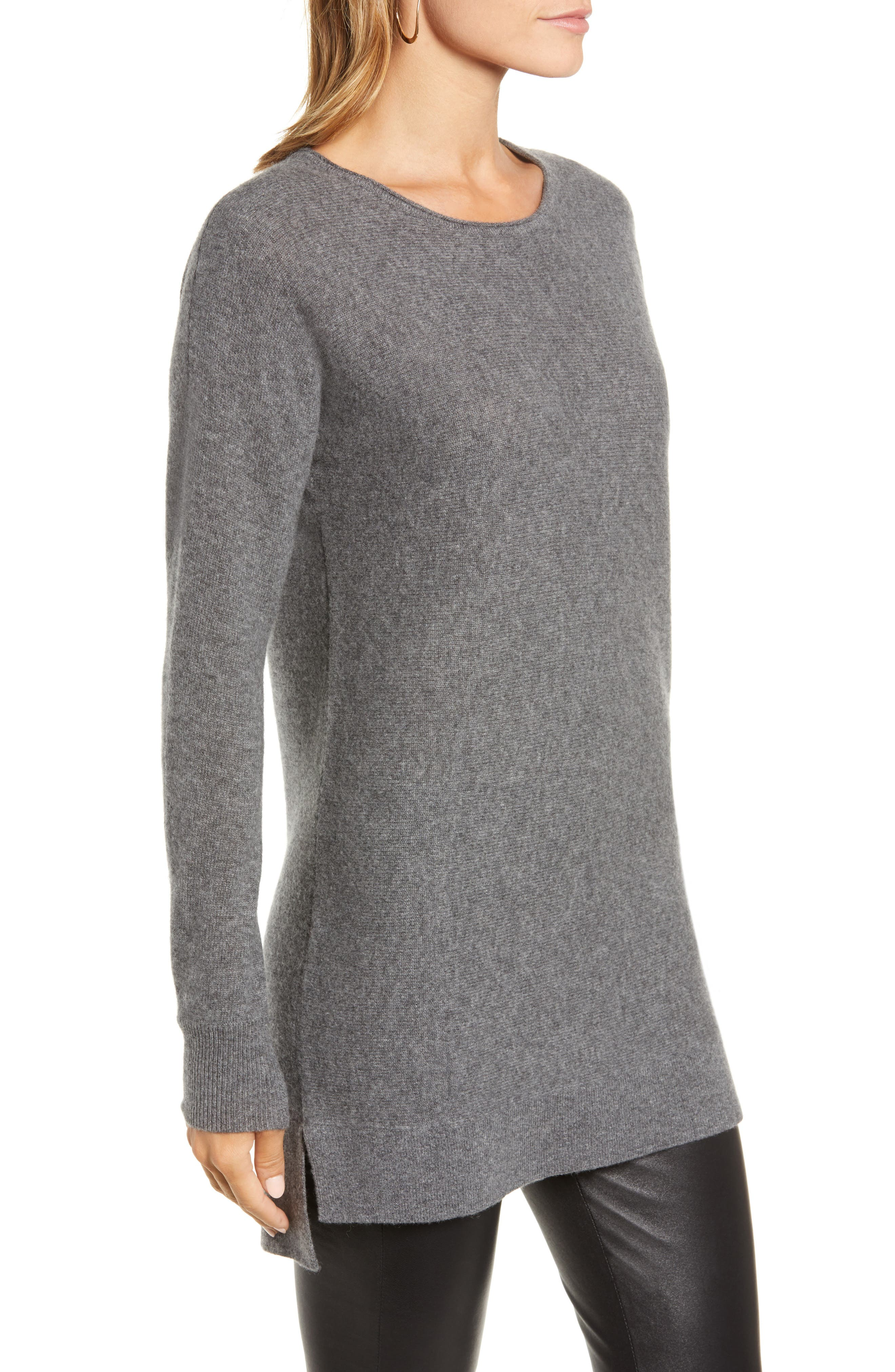 High/Low Wool & Cashmere Tunic Sweater,                             Alternate thumbnail 39, color,