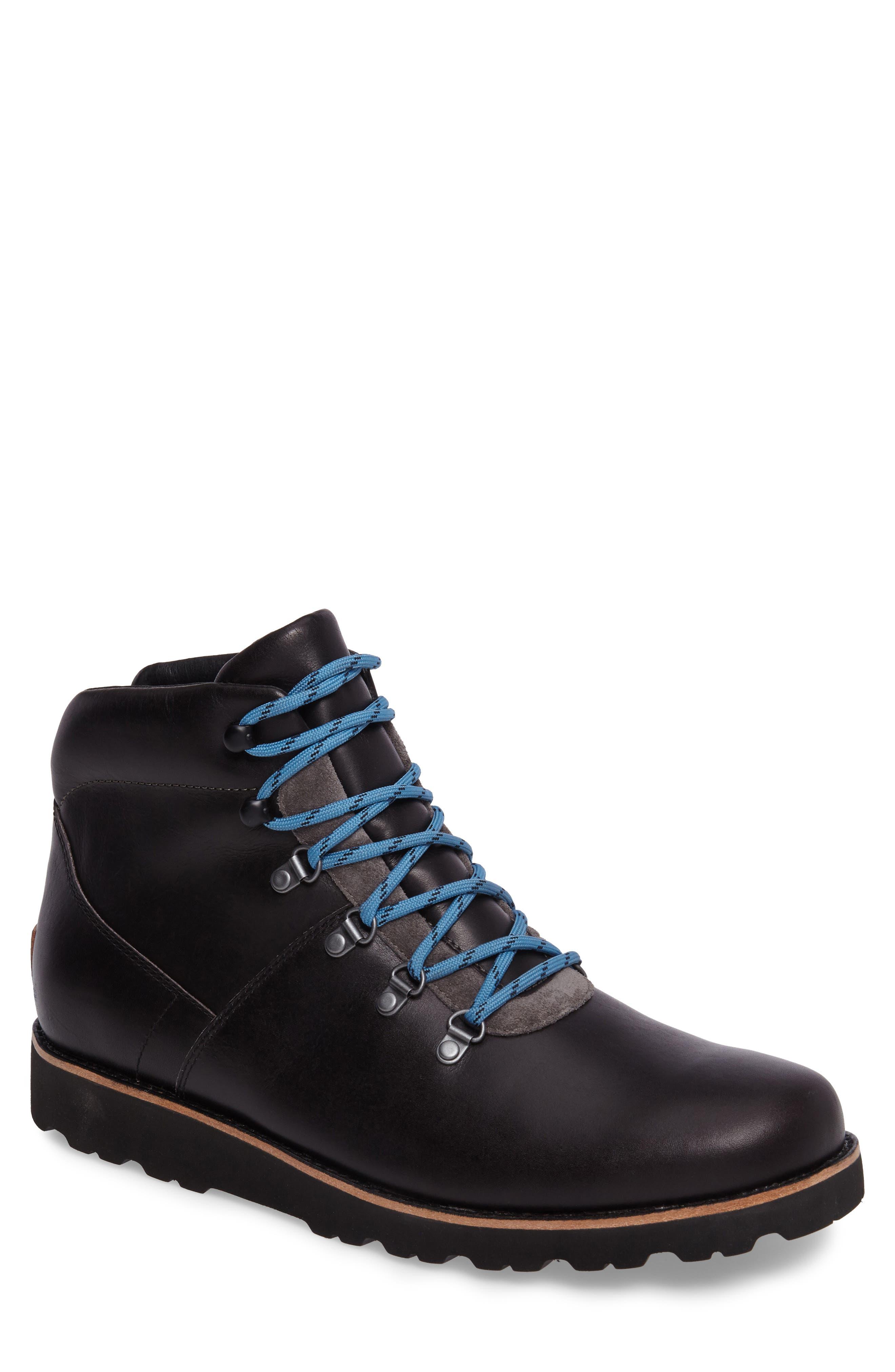 Halfstein Plain Toe Waterproof Boot,                             Main thumbnail 1, color,                             CHARCOAL