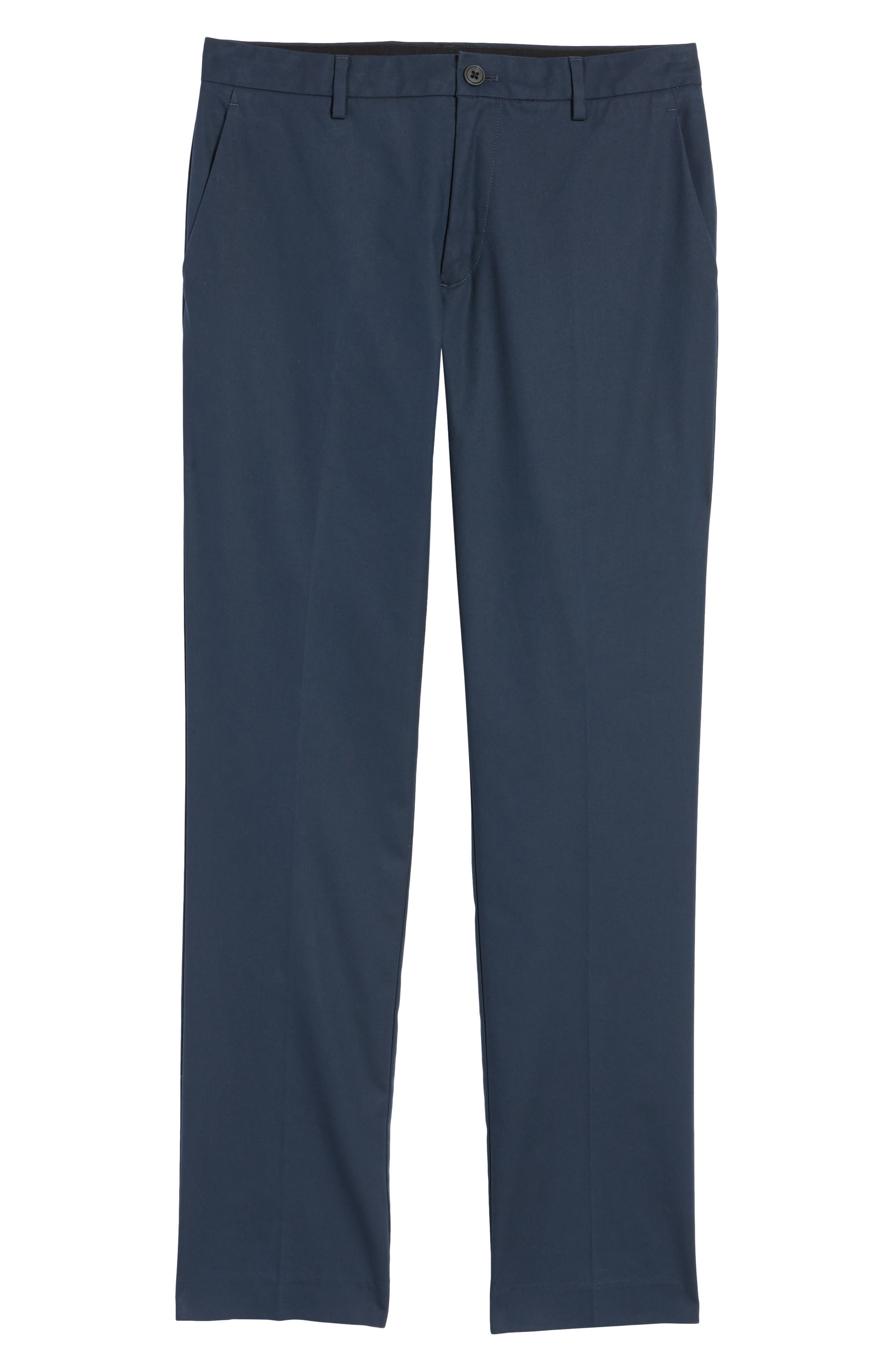 Slim Fit Tech Chinos,                             Alternate thumbnail 6, color,                             NEW NAVY