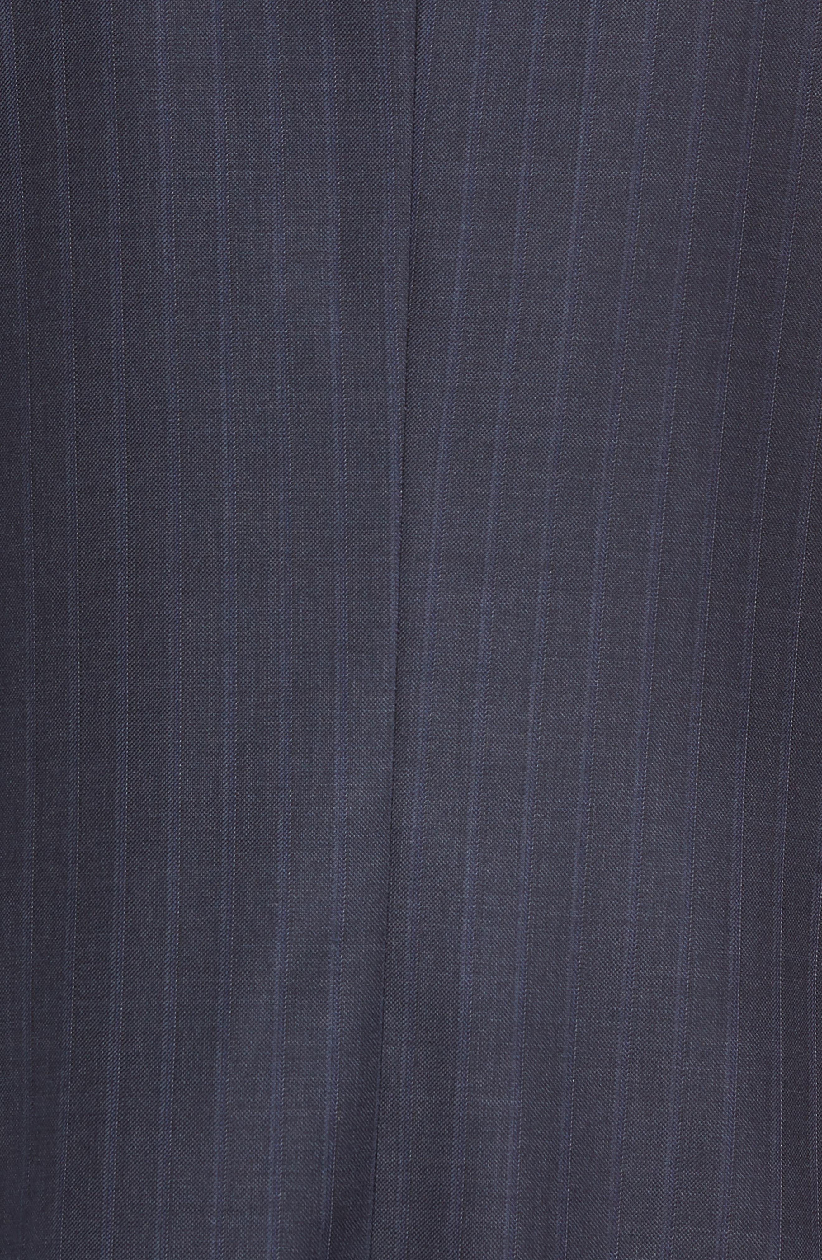 Classic Fit Stripe Wool Suit,                             Alternate thumbnail 6, color,                             DARK BLUE