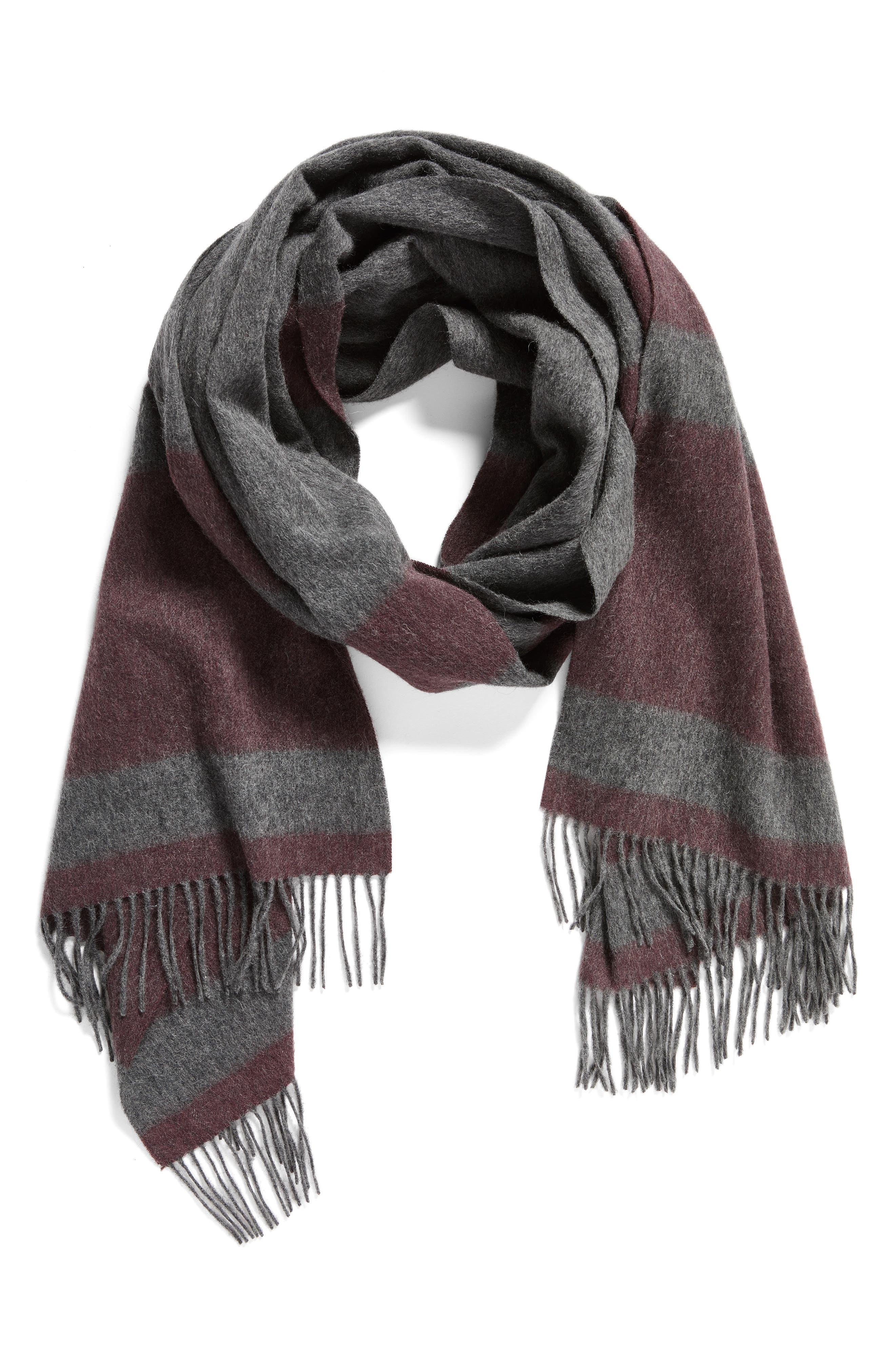 Lazio Stripe Wool Scarf,                             Alternate thumbnail 4, color,