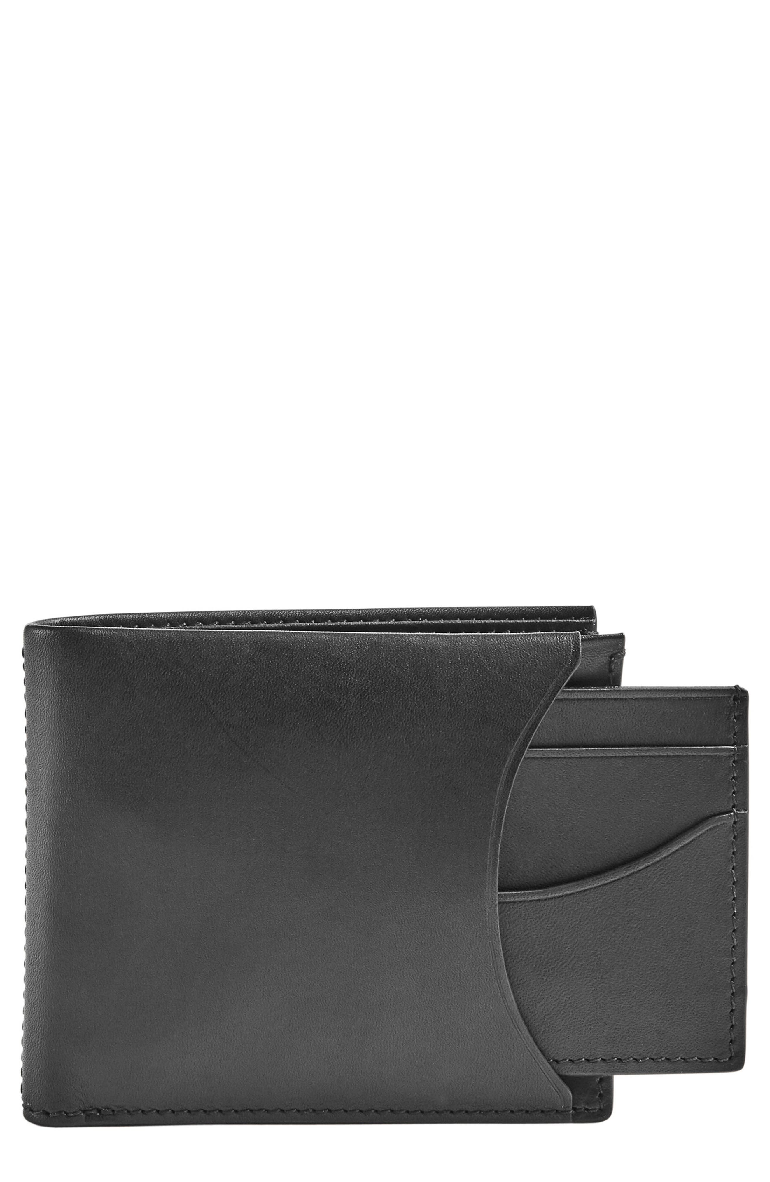 Leather Passcase Wallet,                         Main,                         color, 001