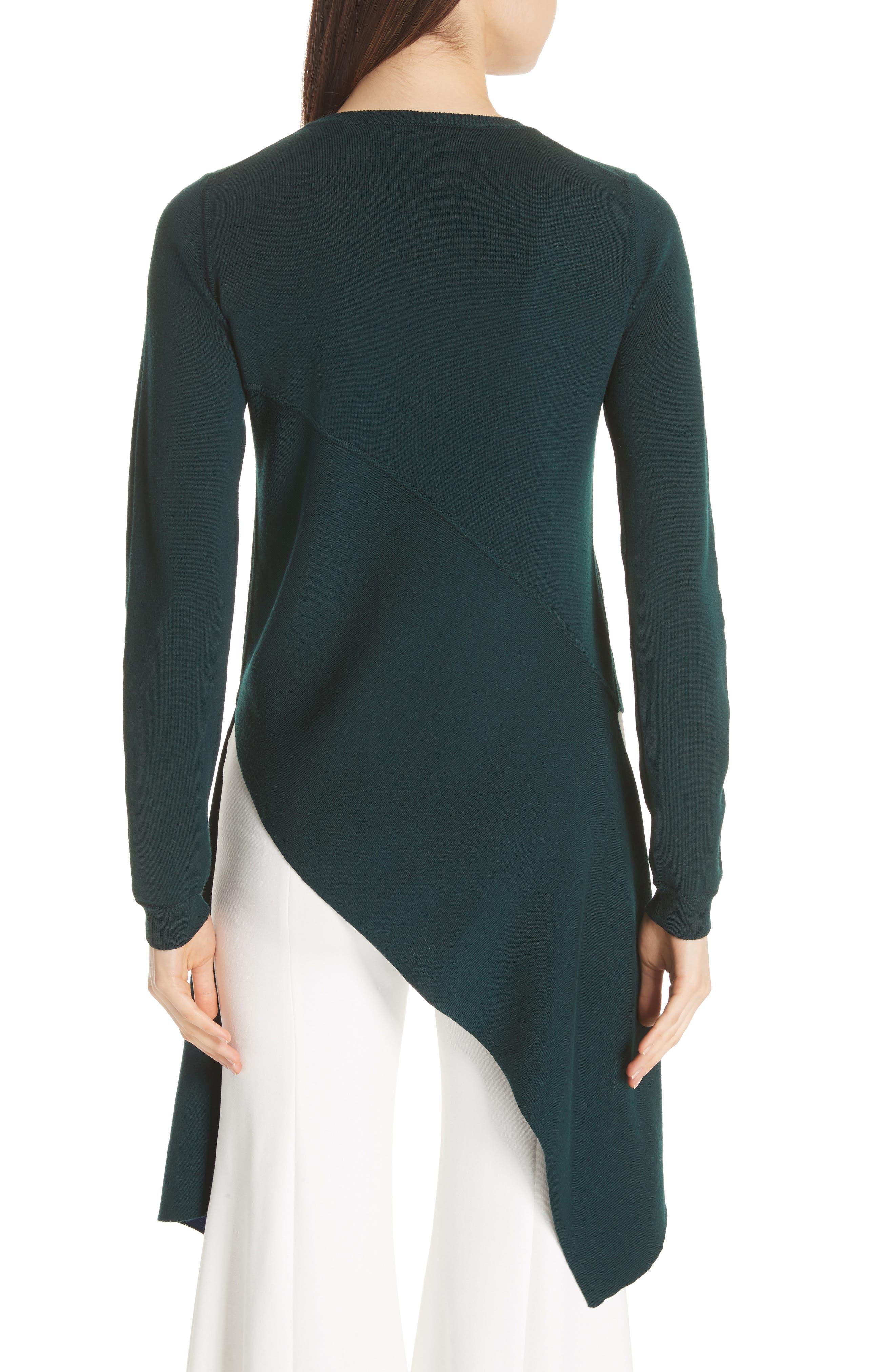 Reversible Knit Asymmetrical Top,                             Alternate thumbnail 3, color,