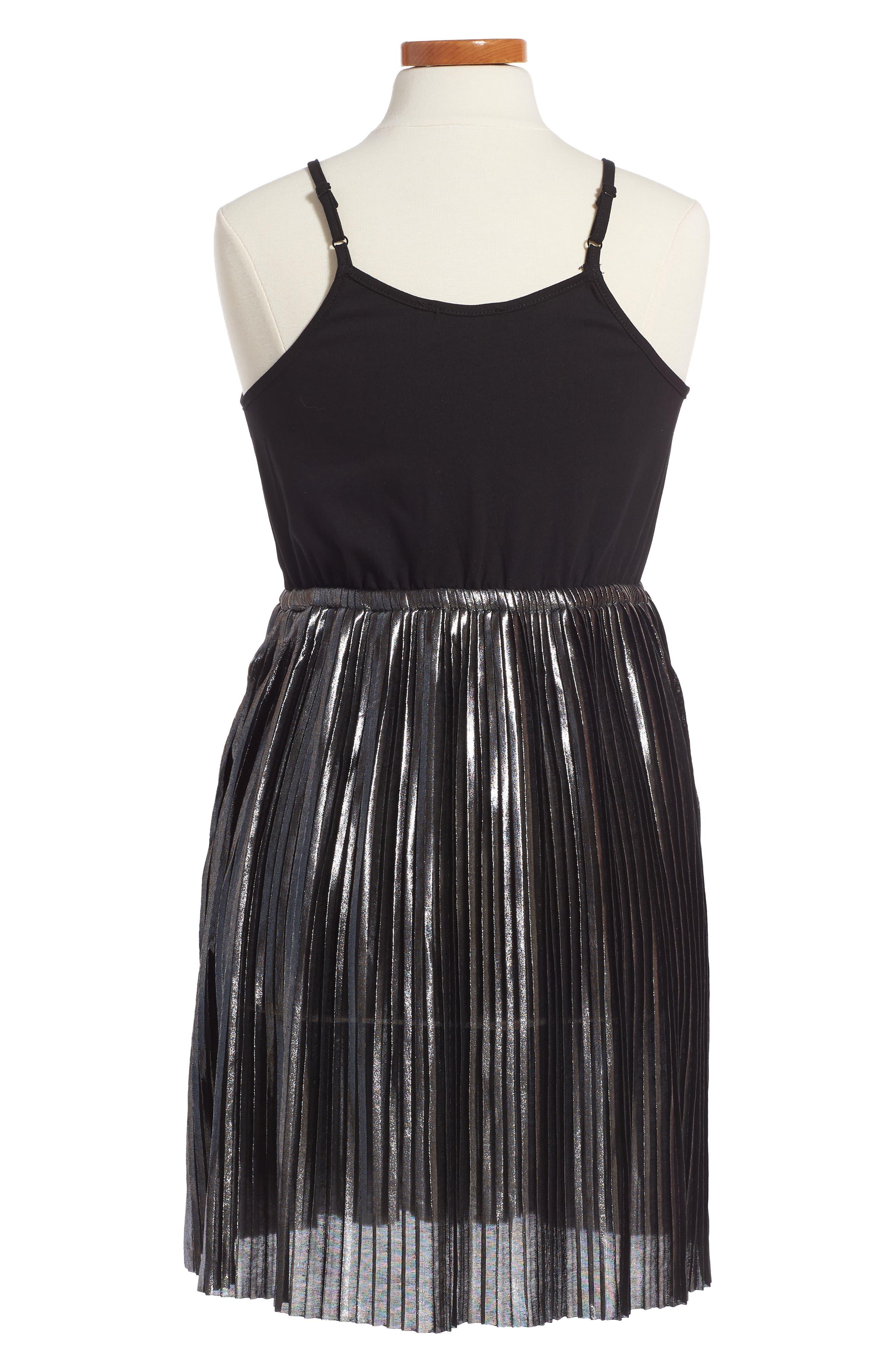 Metallic Sleeveless Dress,                             Alternate thumbnail 2, color,                             024