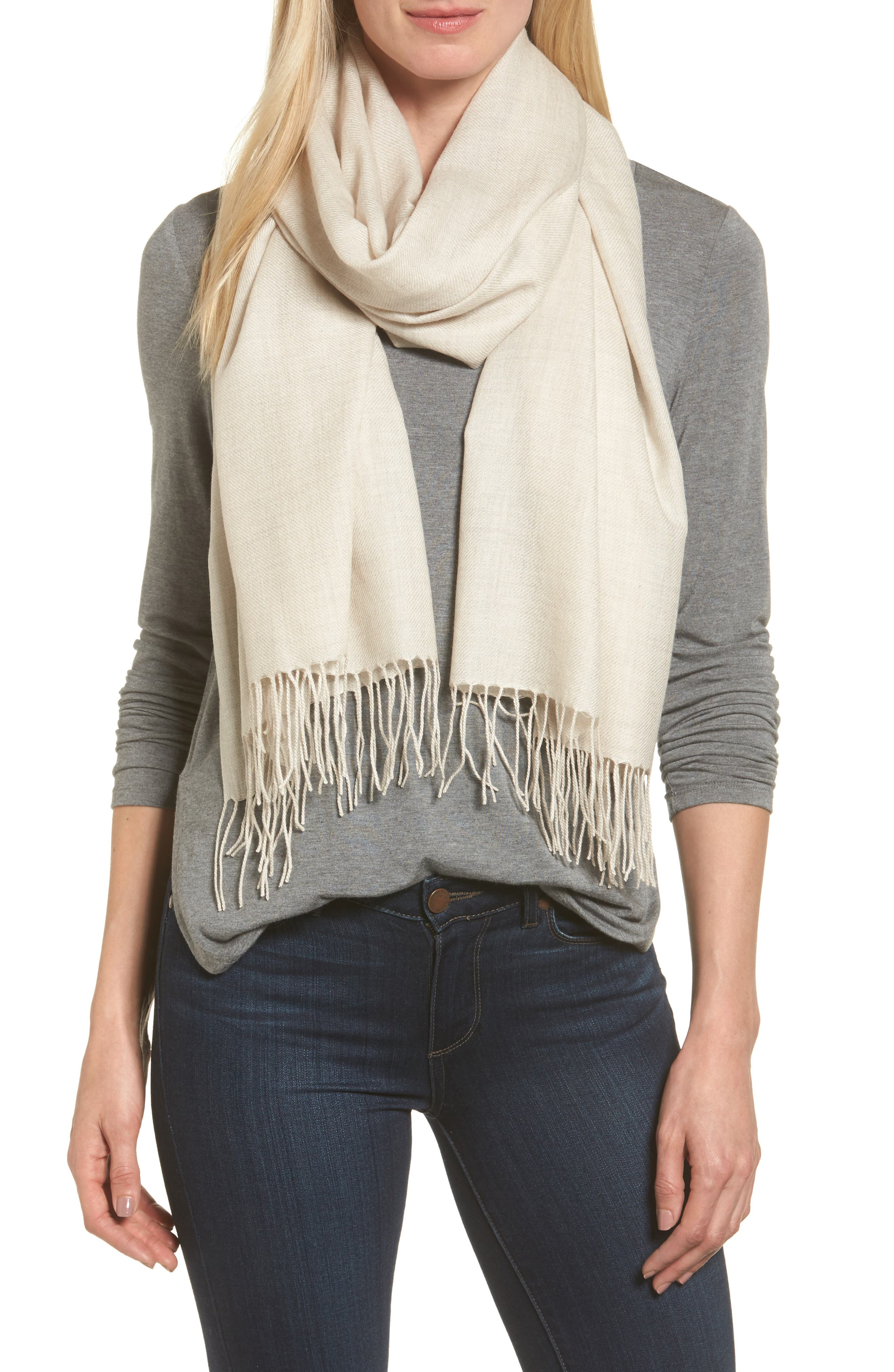 Tissue Weight Wool & Cashmere Scarf,                             Main thumbnail 25, color,