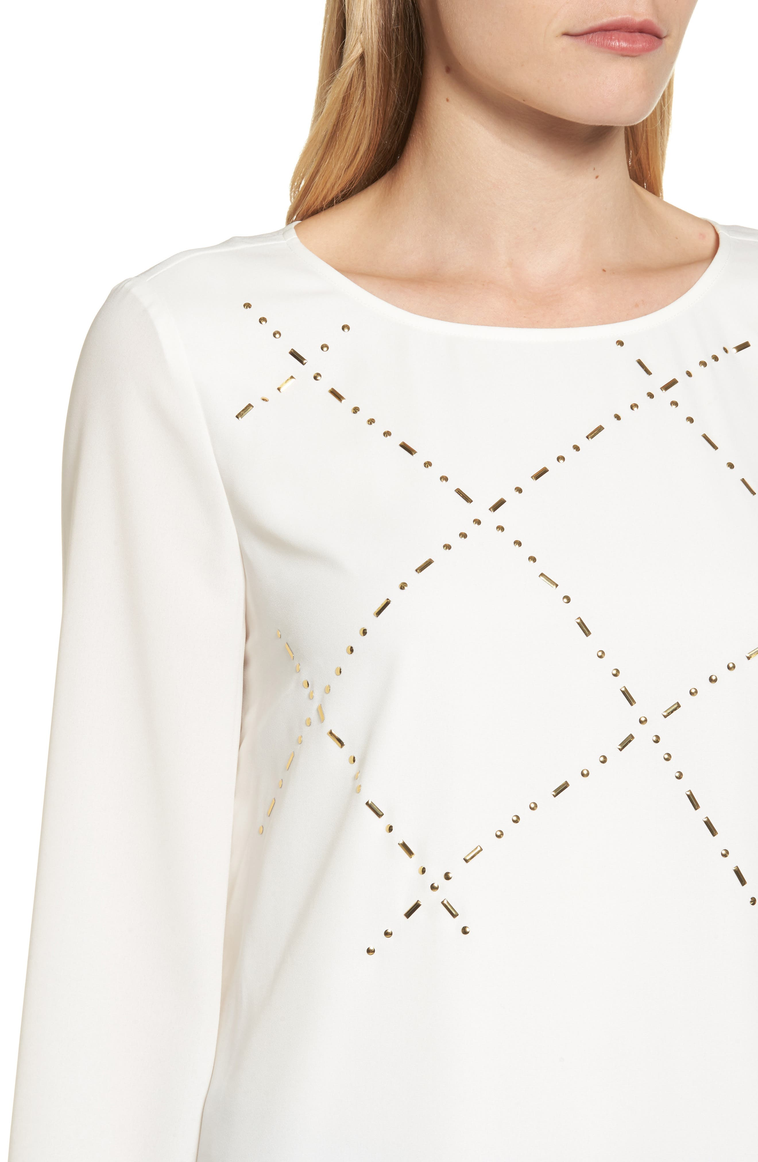 Studded Blouse,                             Alternate thumbnail 4, color,                             903